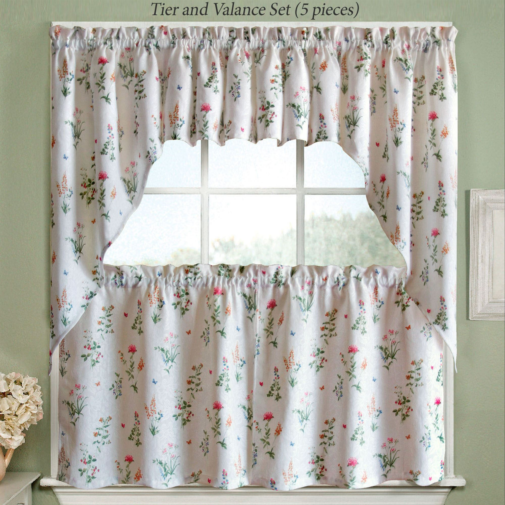 butterfly garden tier window treatments