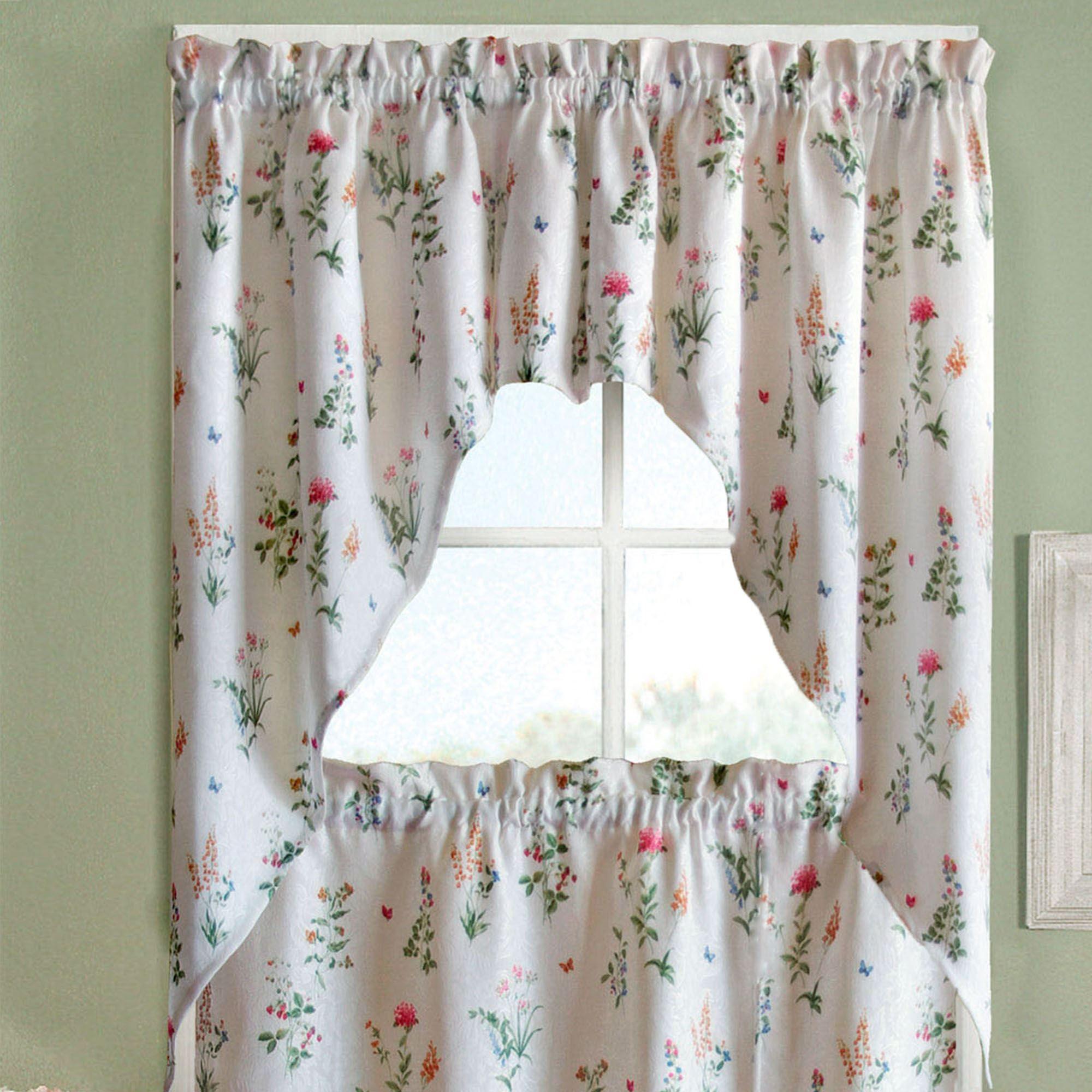 butterfly garden tier window treatments rh touchofclass com