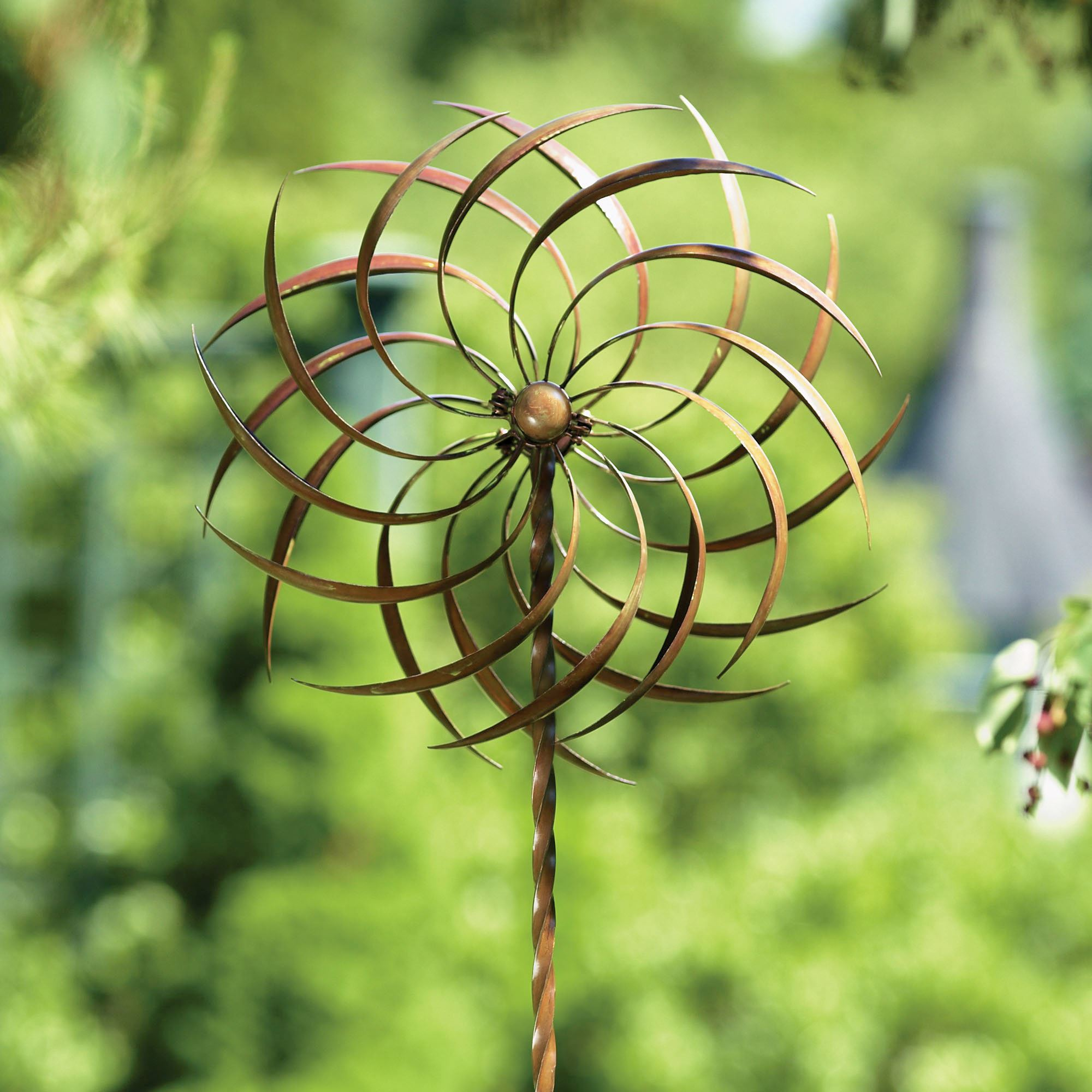 Pinwheel Kinetic Garden Wind Spinner with Stake