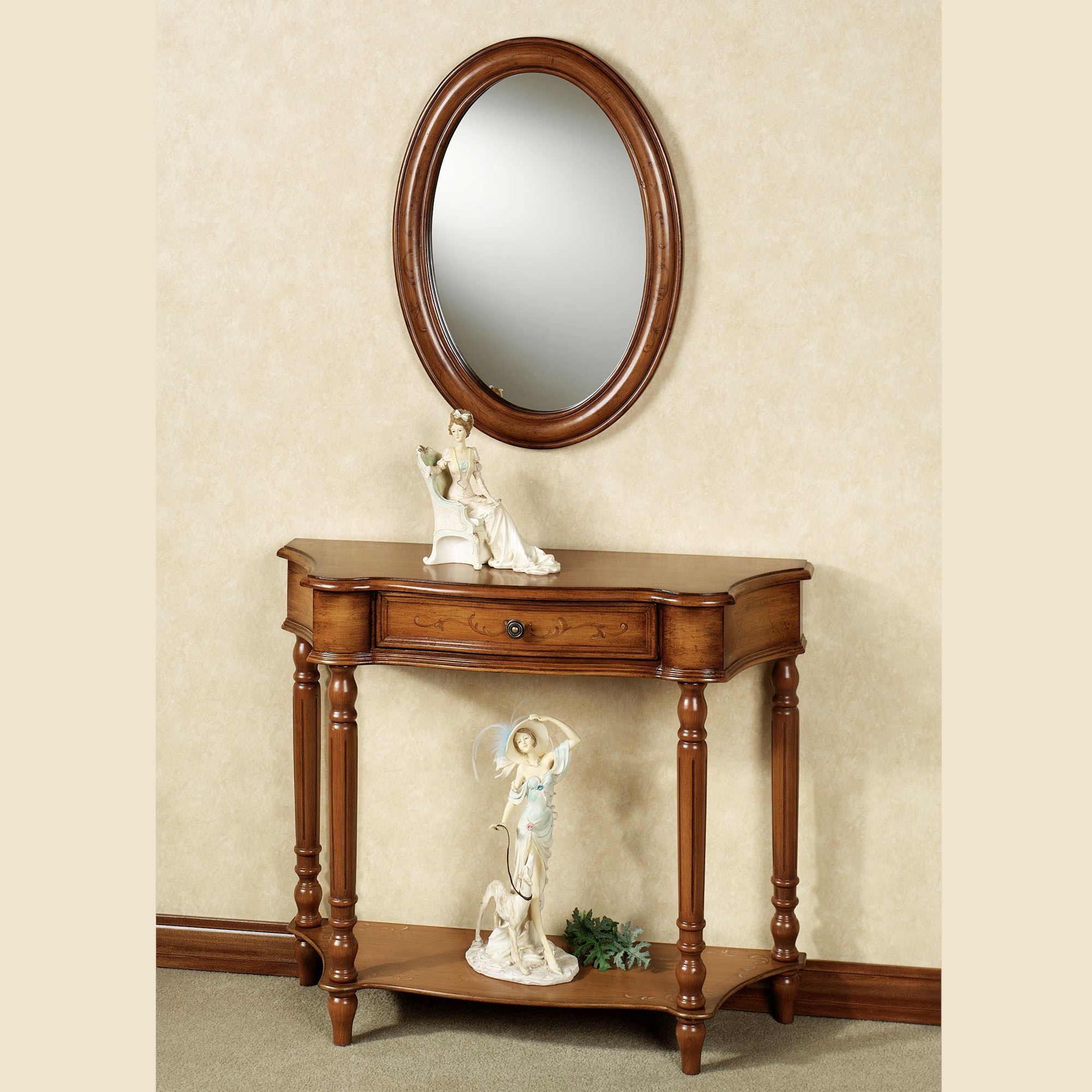 Foyer Table Mirror Sets : Amber manor console table and mirror set