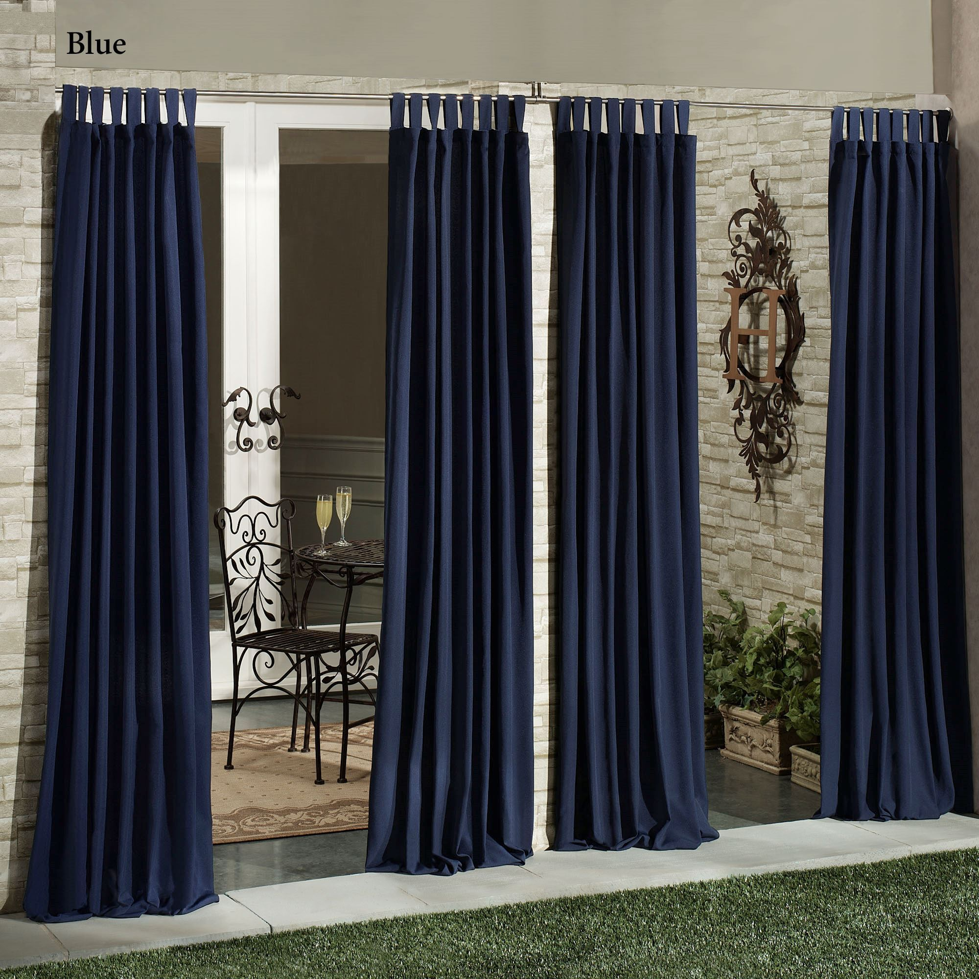 Matine Indoor Outdoor Tab Top Curtain Panels