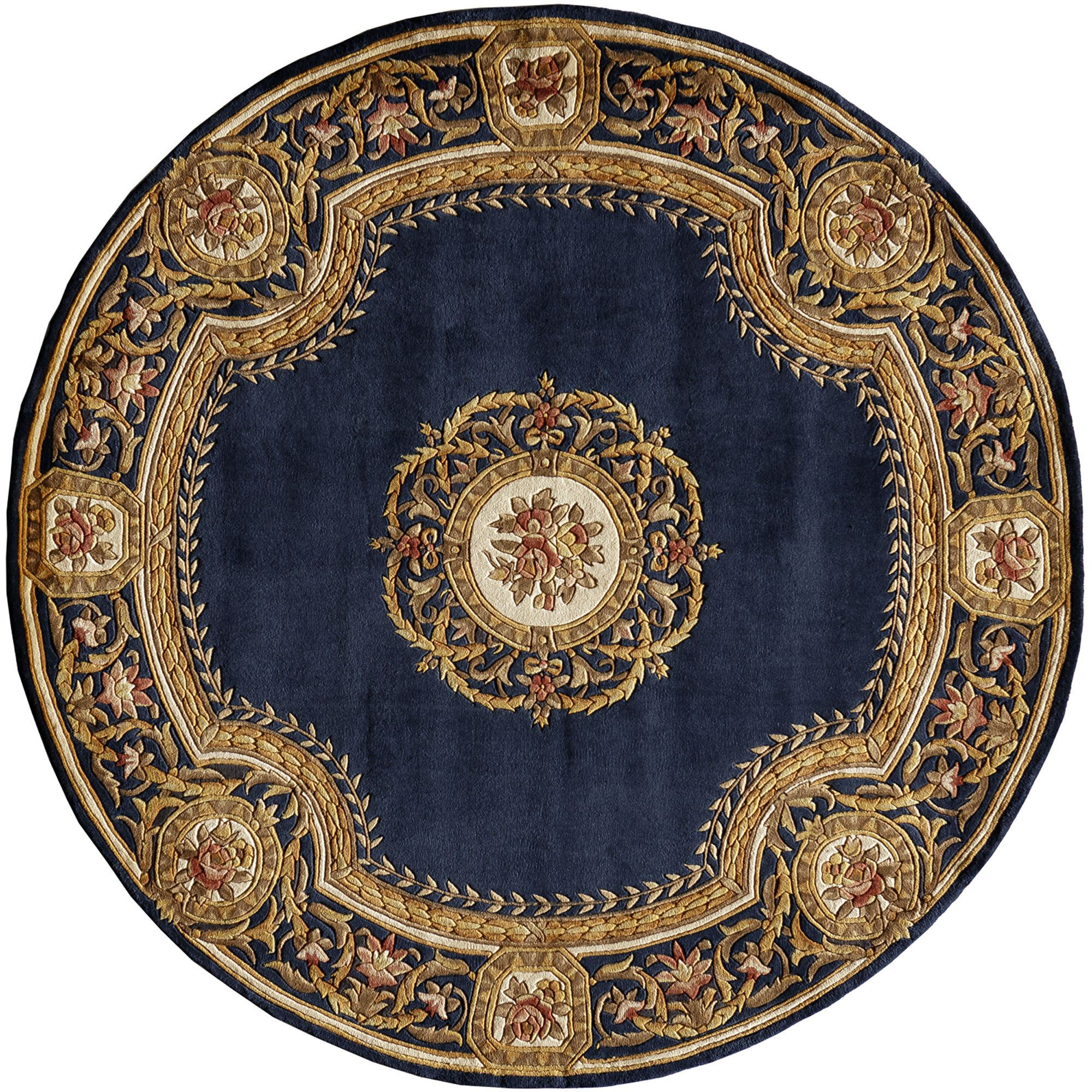 Www Wall Decor And Home Accents Elegant Medallion Round Wool Area Rugs