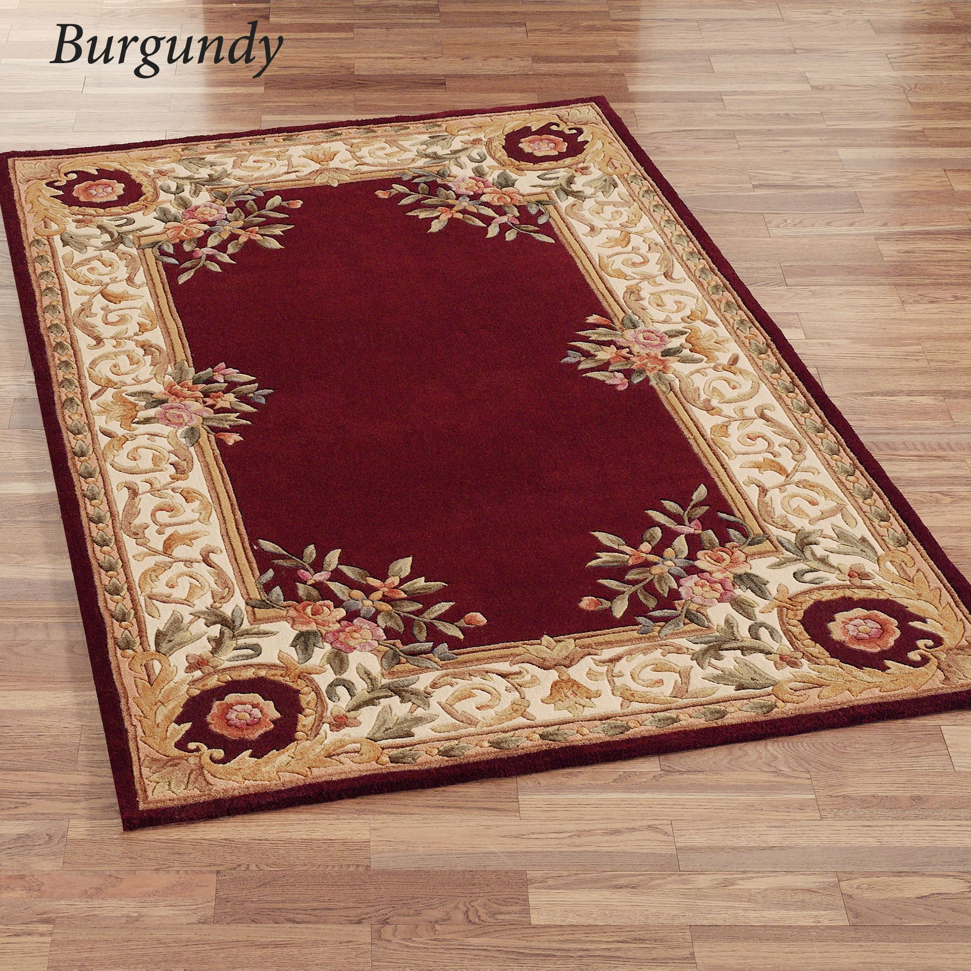 Harmony Border Wool Area Rugs