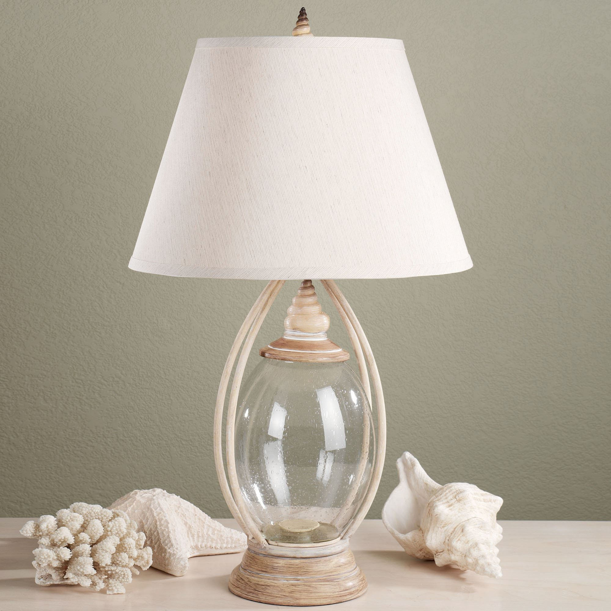Sea Treasures Fillable Glass Table Lamp