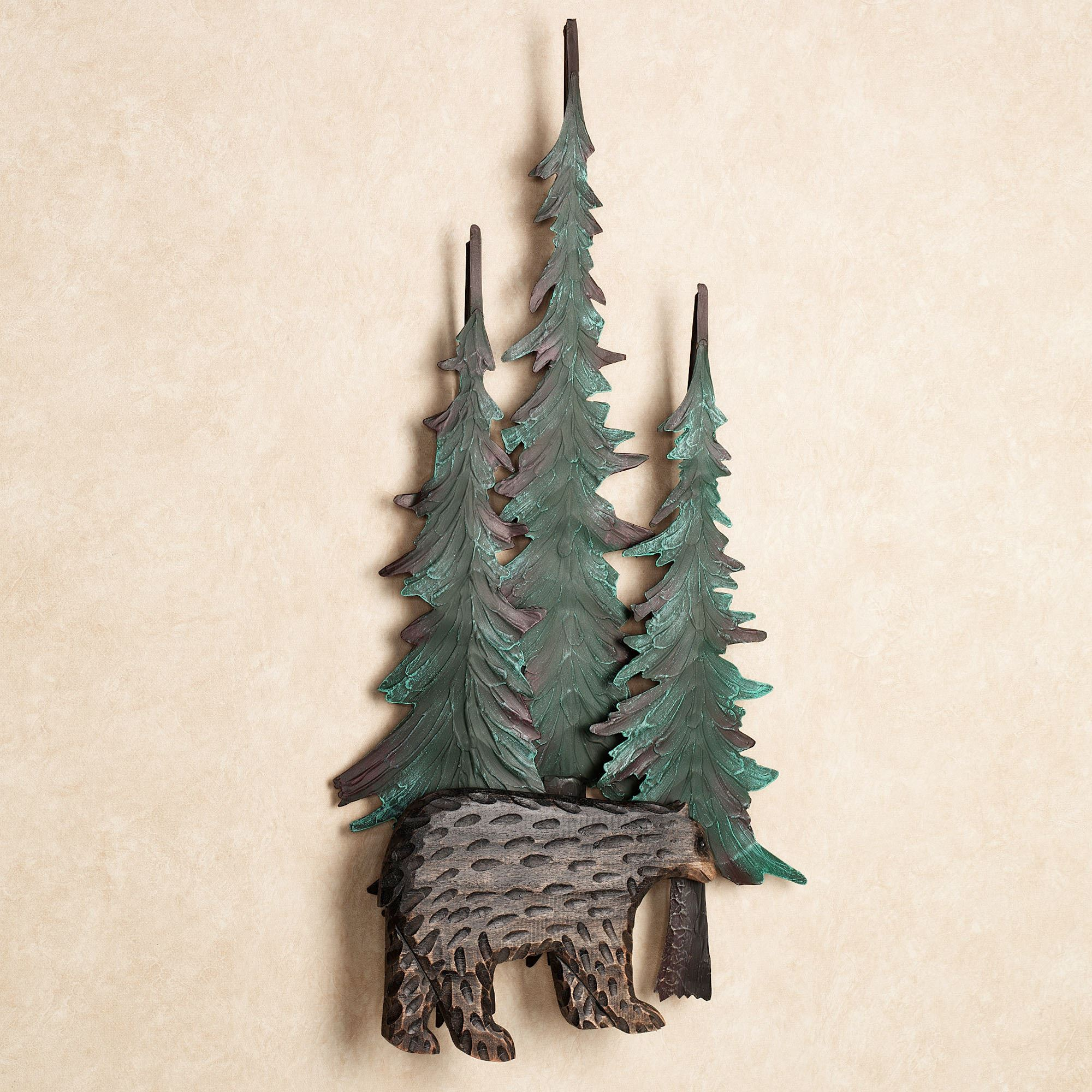 Black Bear In Pines Wall Art · Black Bear Christmas Decorations