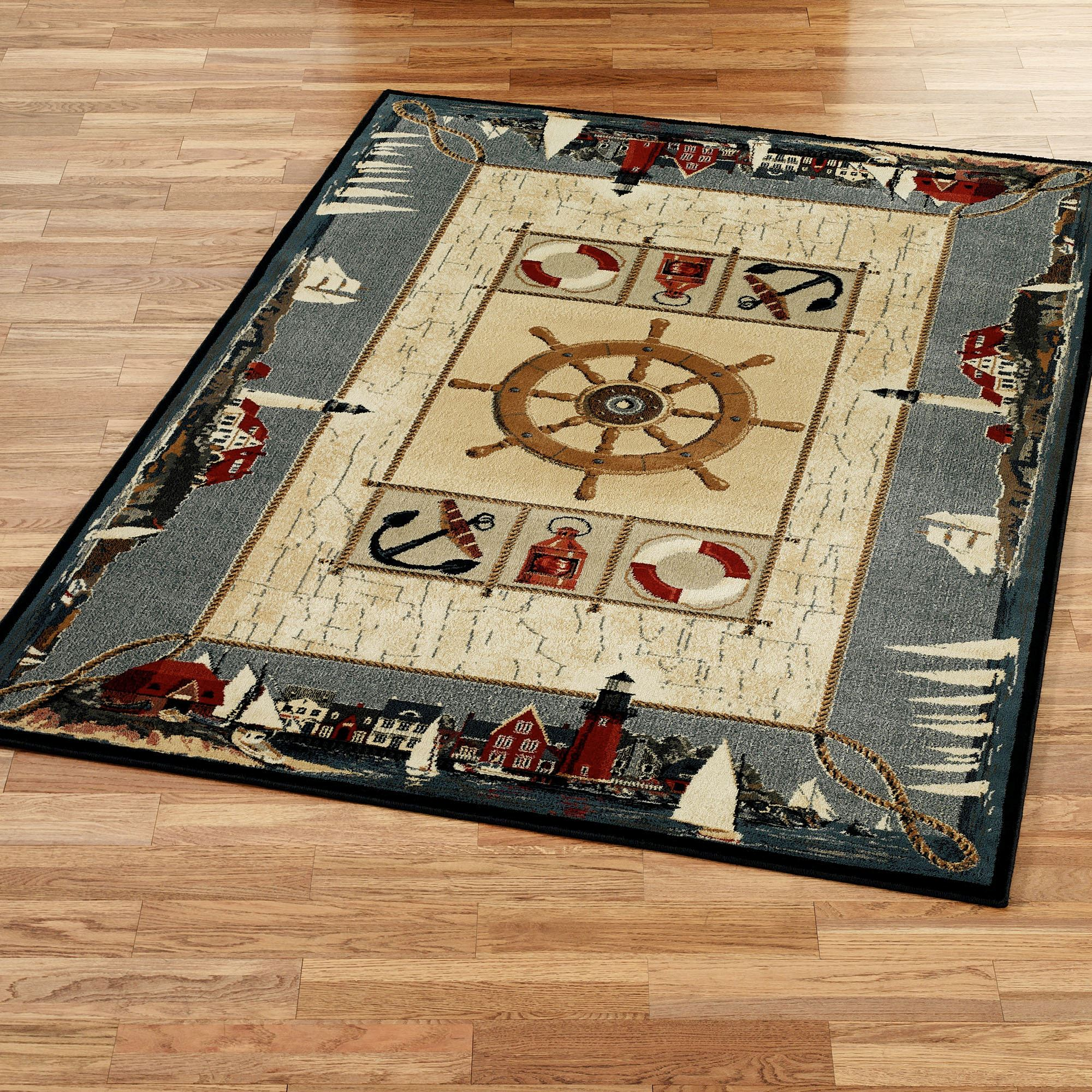 Seascape Nautical Area Rugs