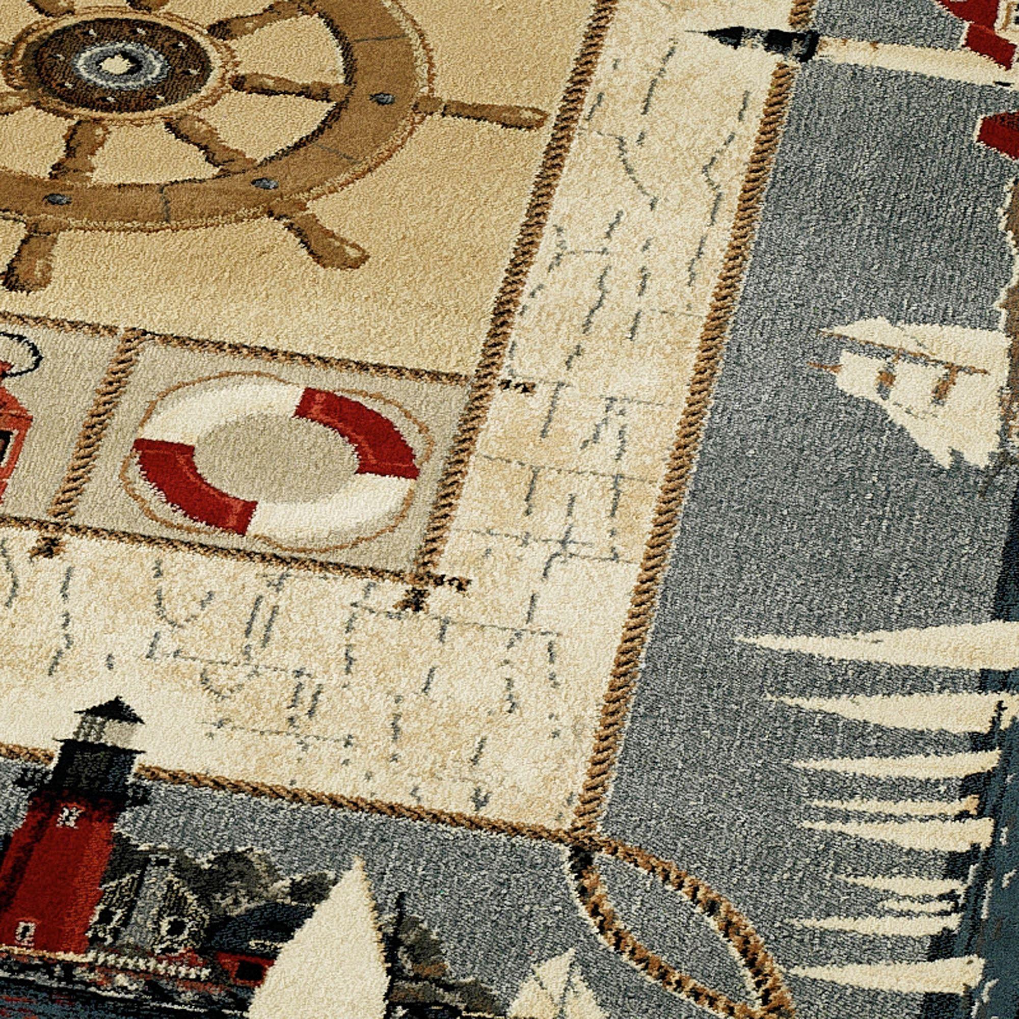 Seascape Nautical Area Rugs