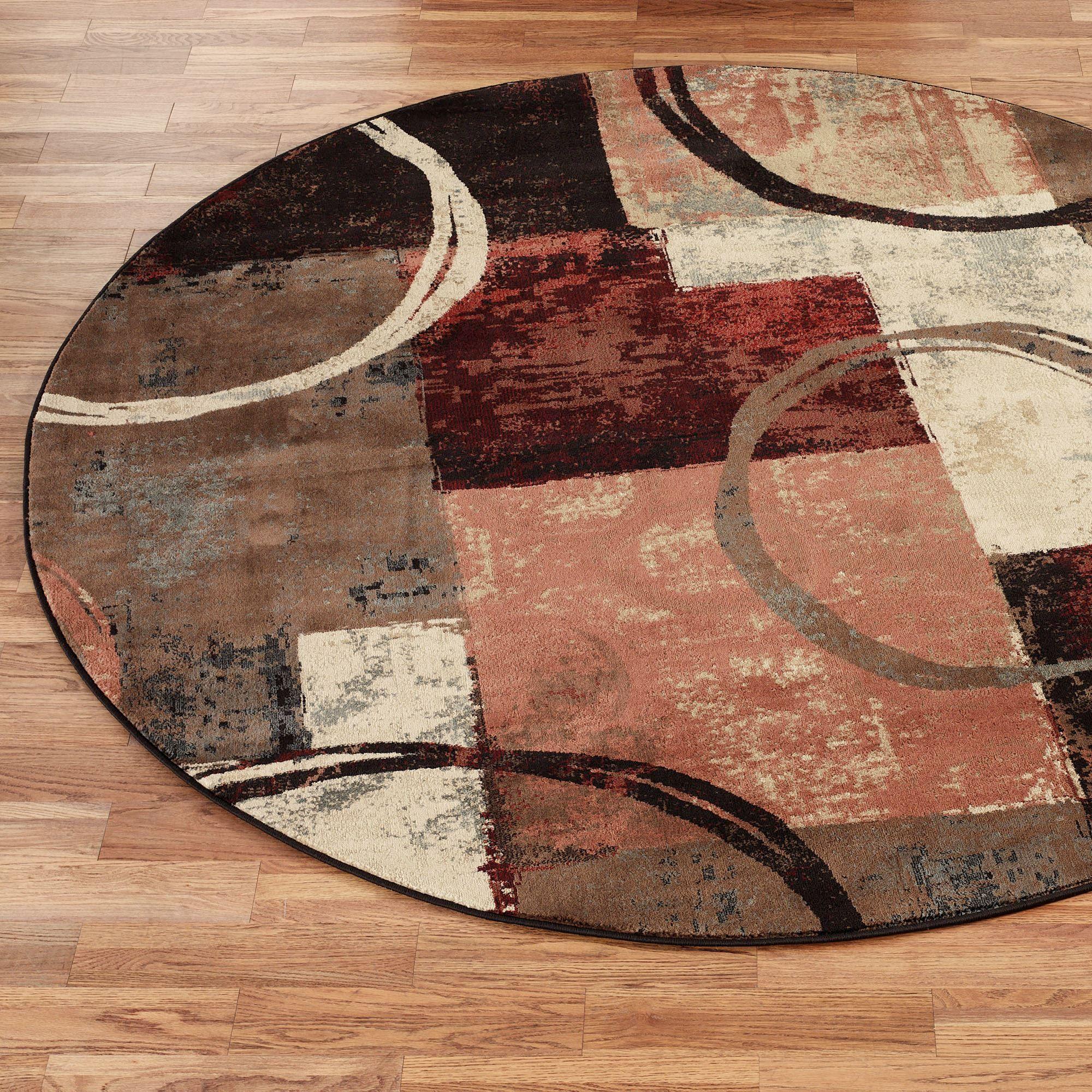 Arcade Contemporary Abstract Round Rug