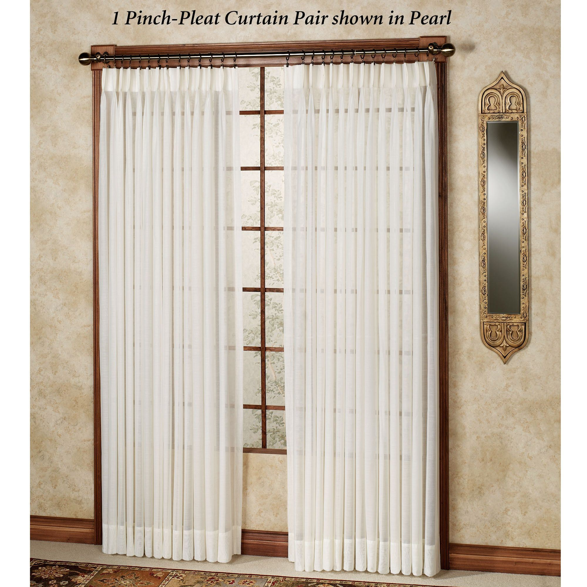 Splendor Drapery Pinch Pleat Curtain Pair