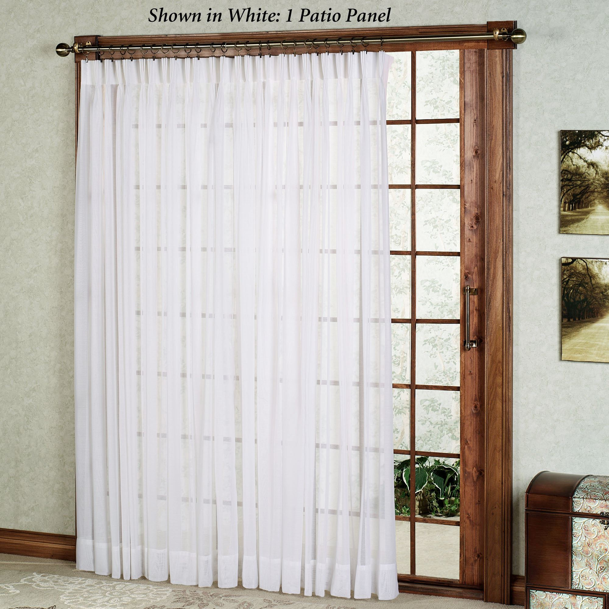 Click to expand & Splendor Semi Sheer Pinch Pleat Patio Panel