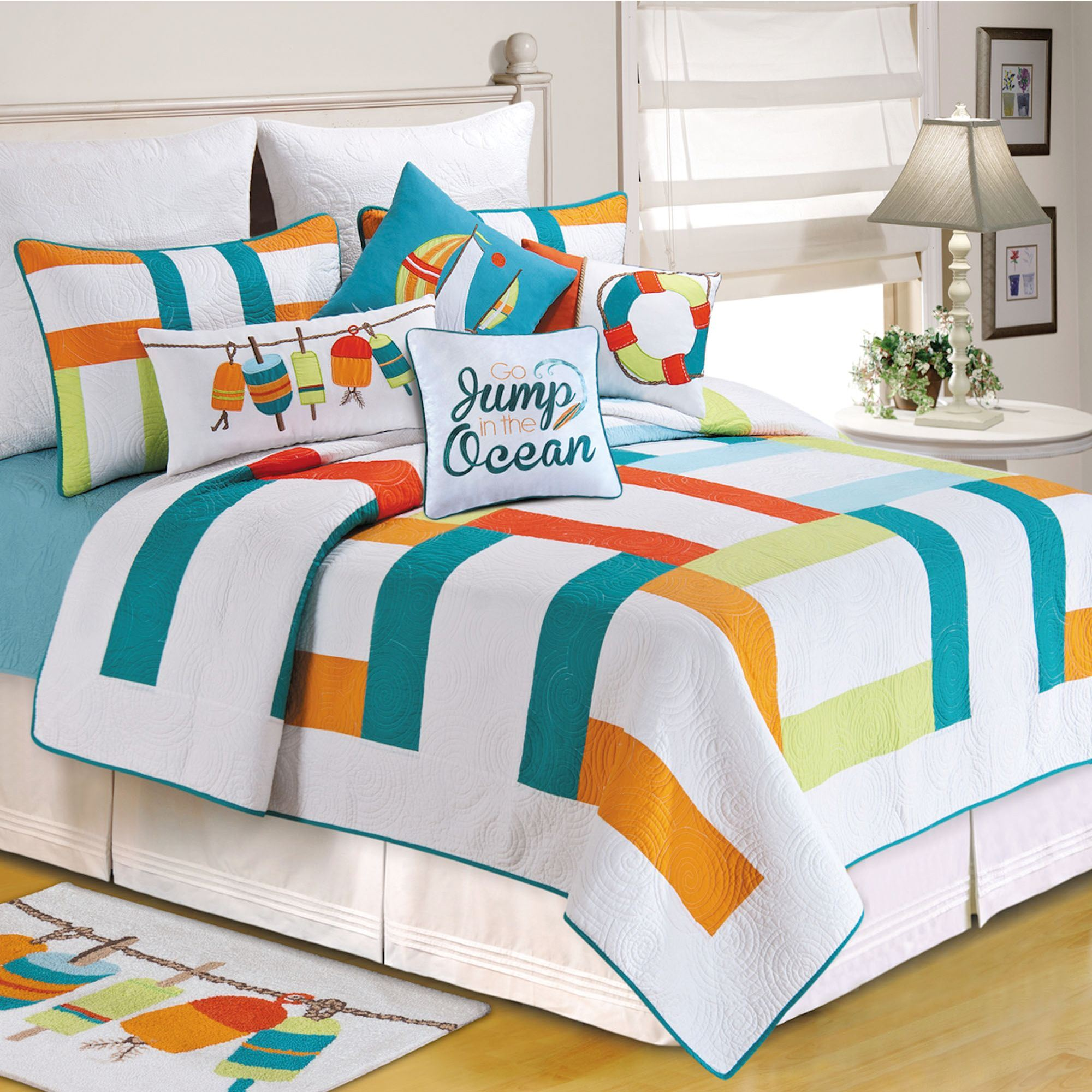 Zuma Bay Multicolored Quilt Bedding : teal quilt bedding - Adamdwight.com