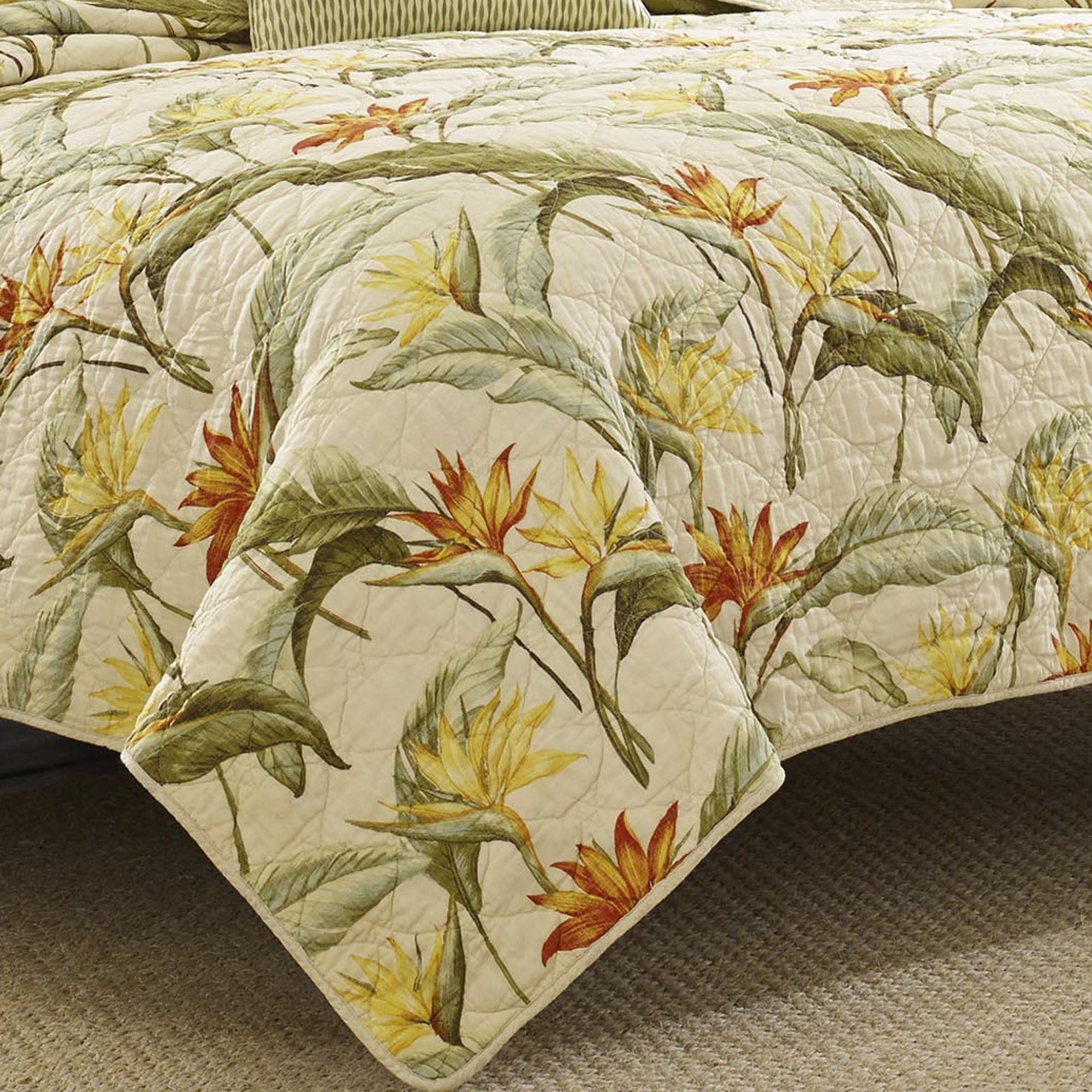 Tommy Bahama Birds Of Paradise Tropical Quilt Bedding