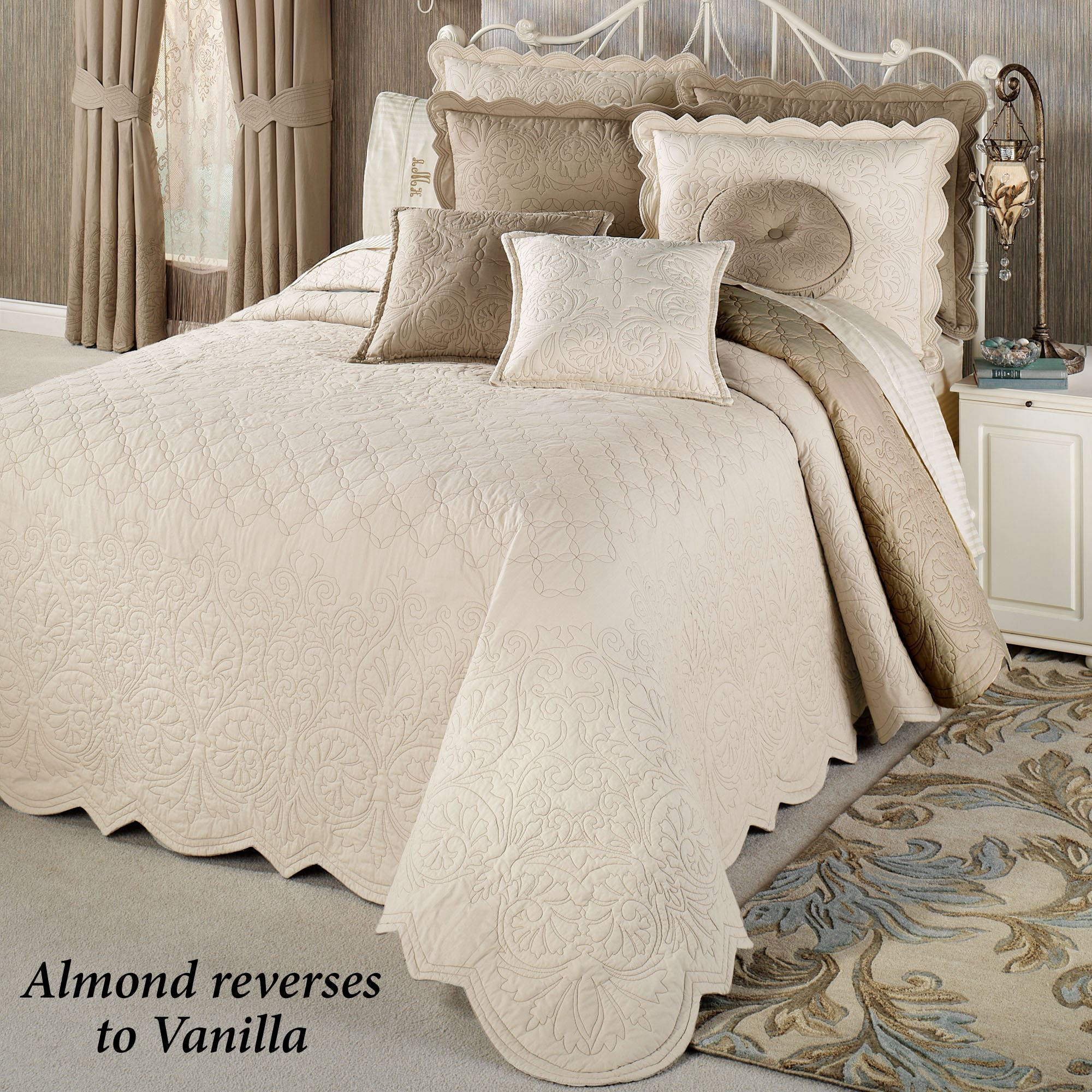 Evermore Almond Grande Bedspread Bedding