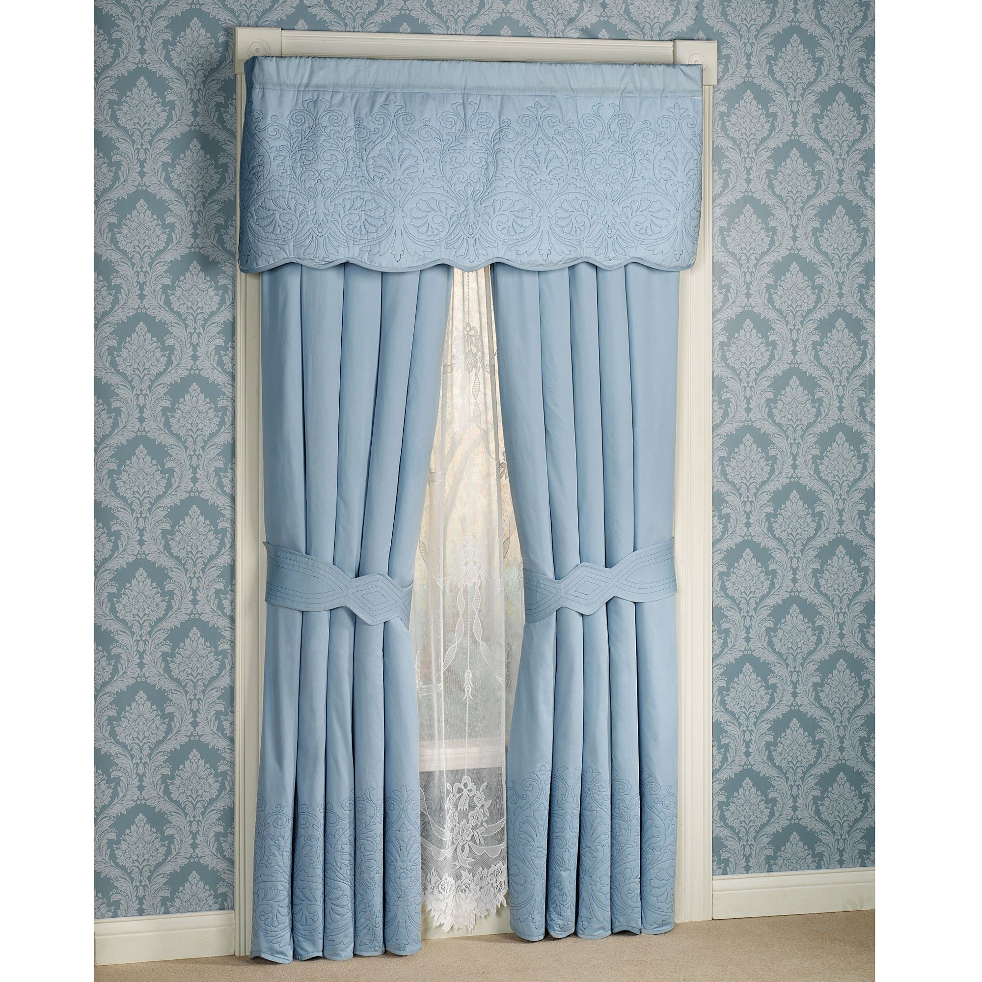 Evermore Blue Grande Bedspread Bedding
