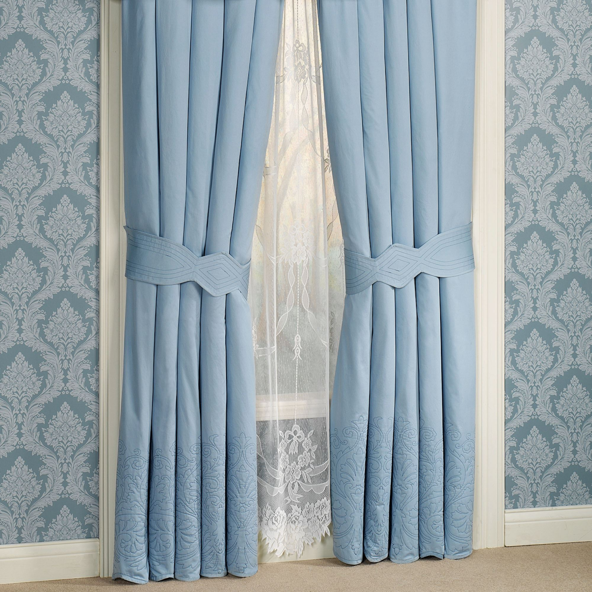 exquisite furnishings intensity blue pin valance luxurious curtains