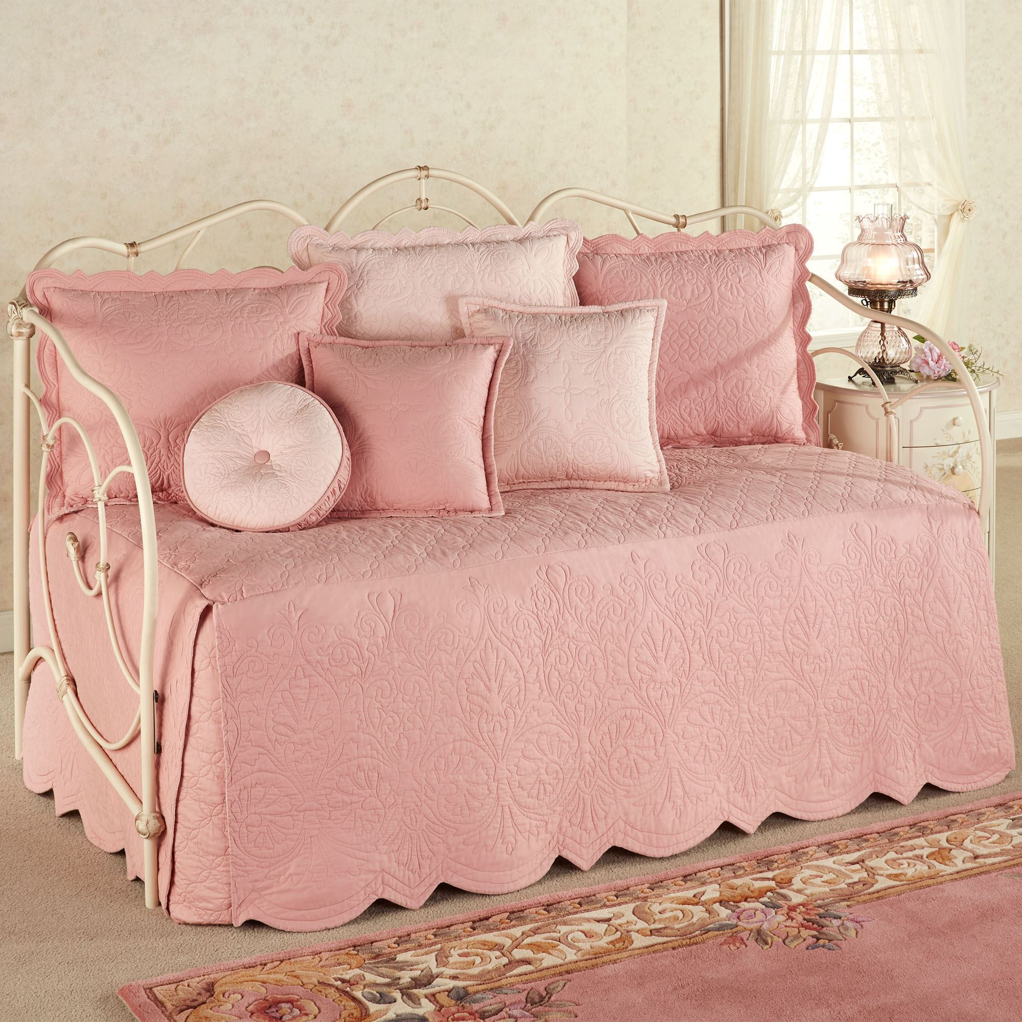 Evermore Coral Blush Daybed Bedding Set