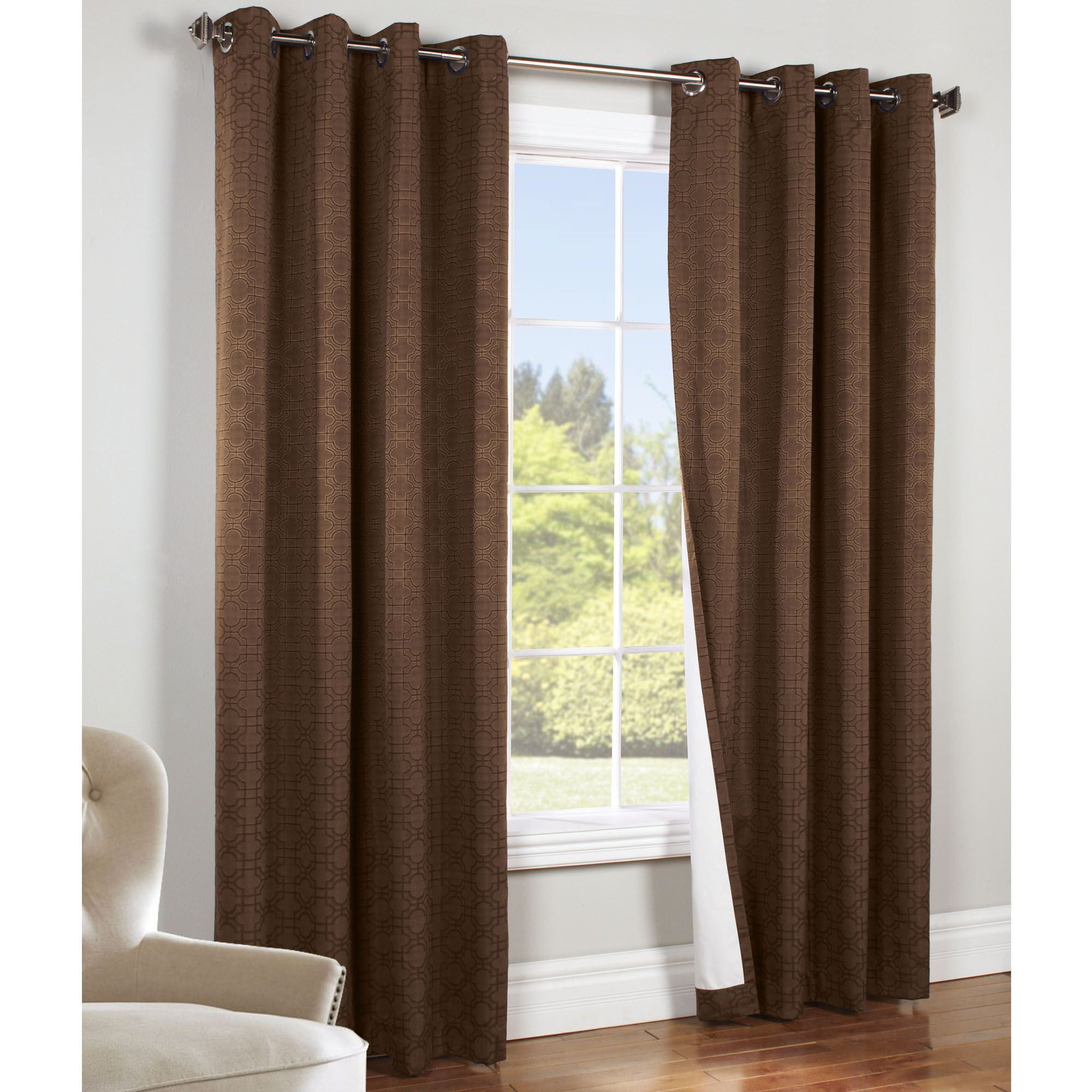 Irongate thermaplus total blackout grommet curtain panels for Curtains and drapes