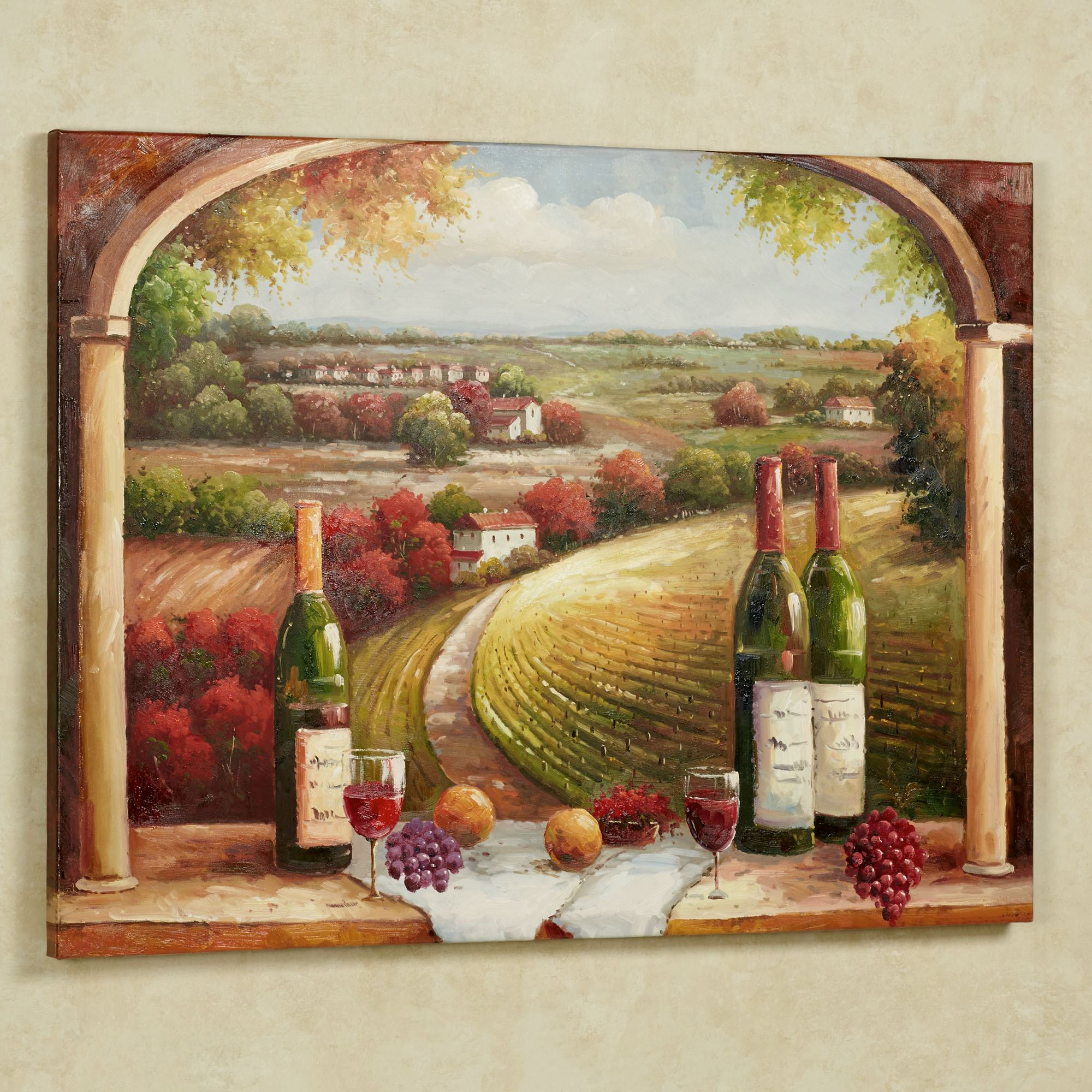 Merveilleux Tuscan Charm Canvas Wall Art Multi Warm. Click To Expand