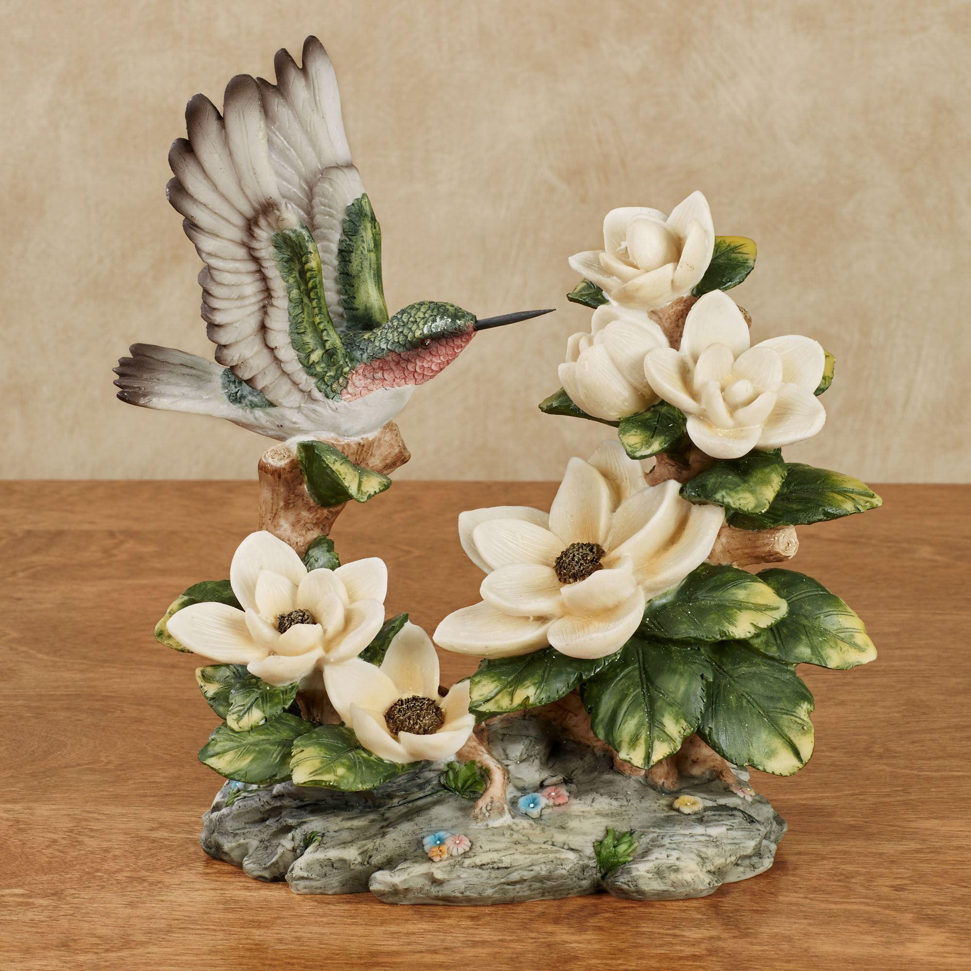Hungry Hummingbird Magnolia Table Sculpture