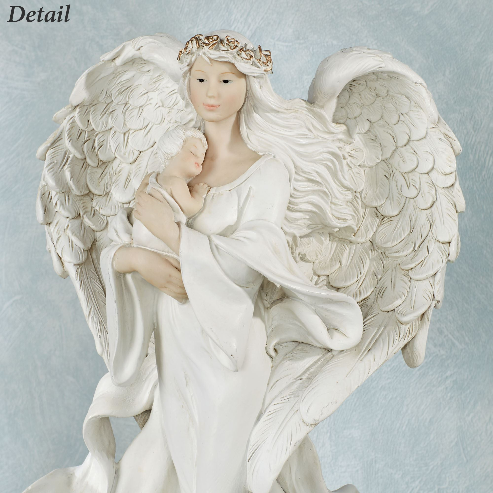 Undisturbed Love Angel With Baby Figurine