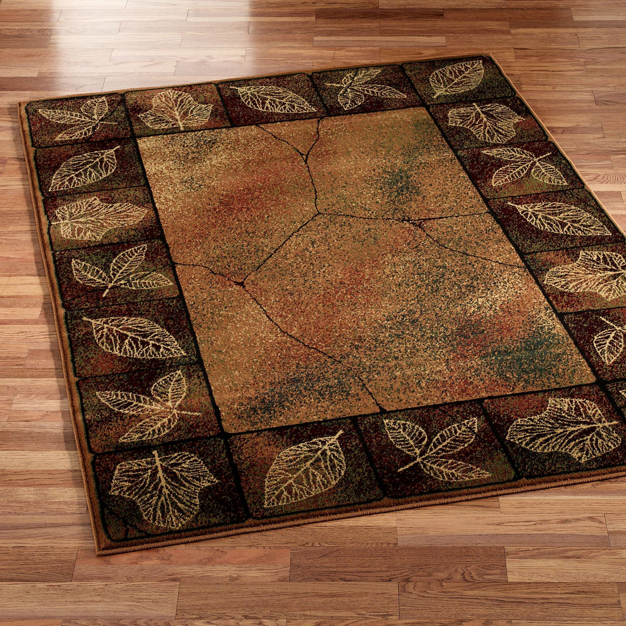 Top Gold Leaf Area Rug TC94