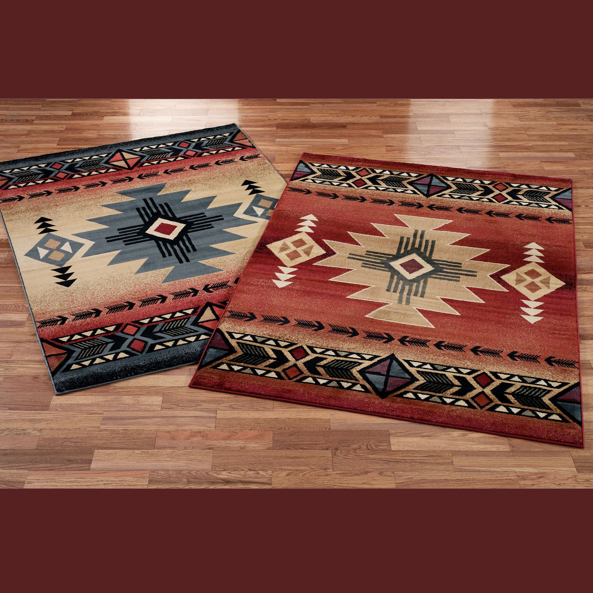 x river western star lone rug decor rugs southwest southwestern turquoise whiskey