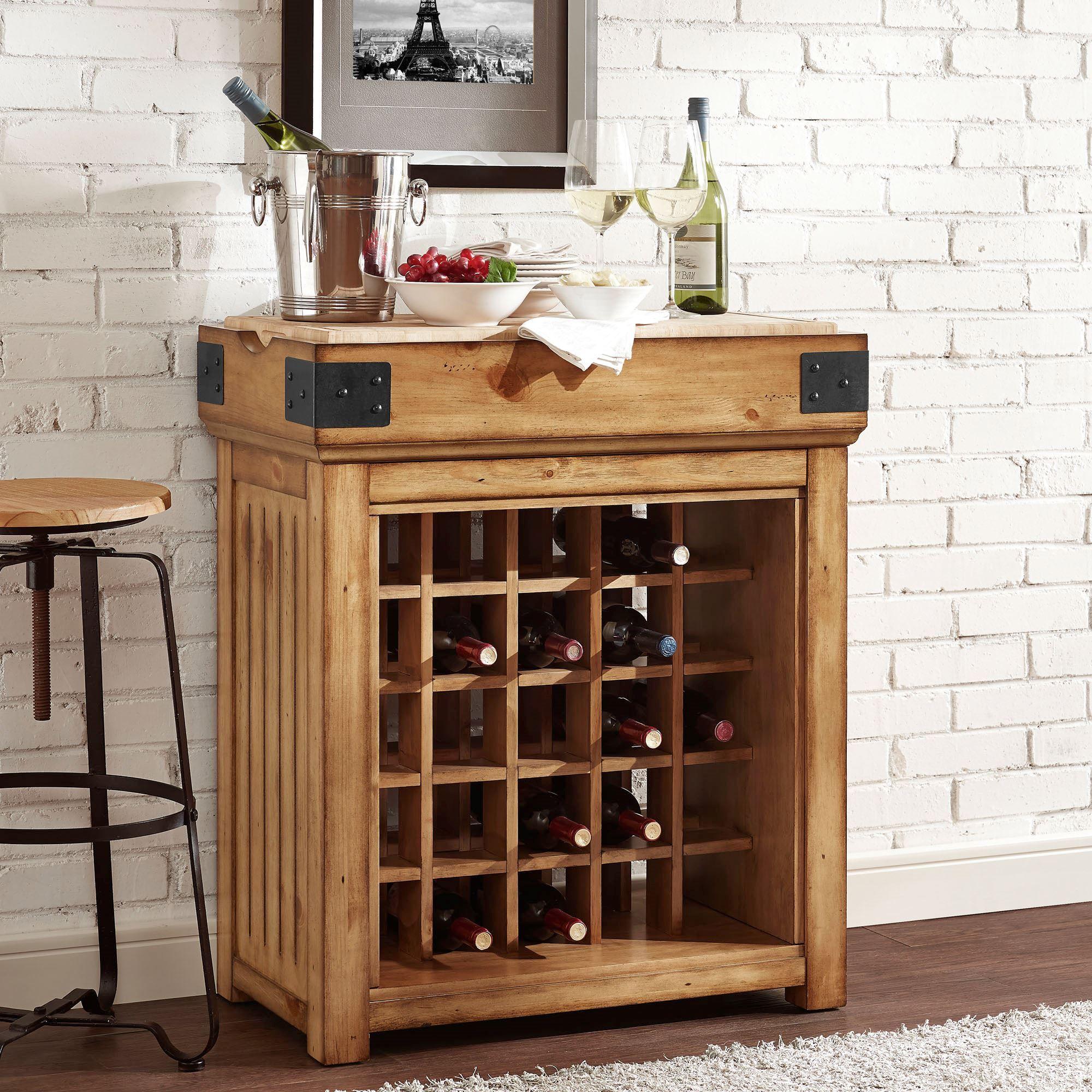 Wine Racks Kitchen Cabinets: Brendalynn Wooden Wine Storage Cabinet