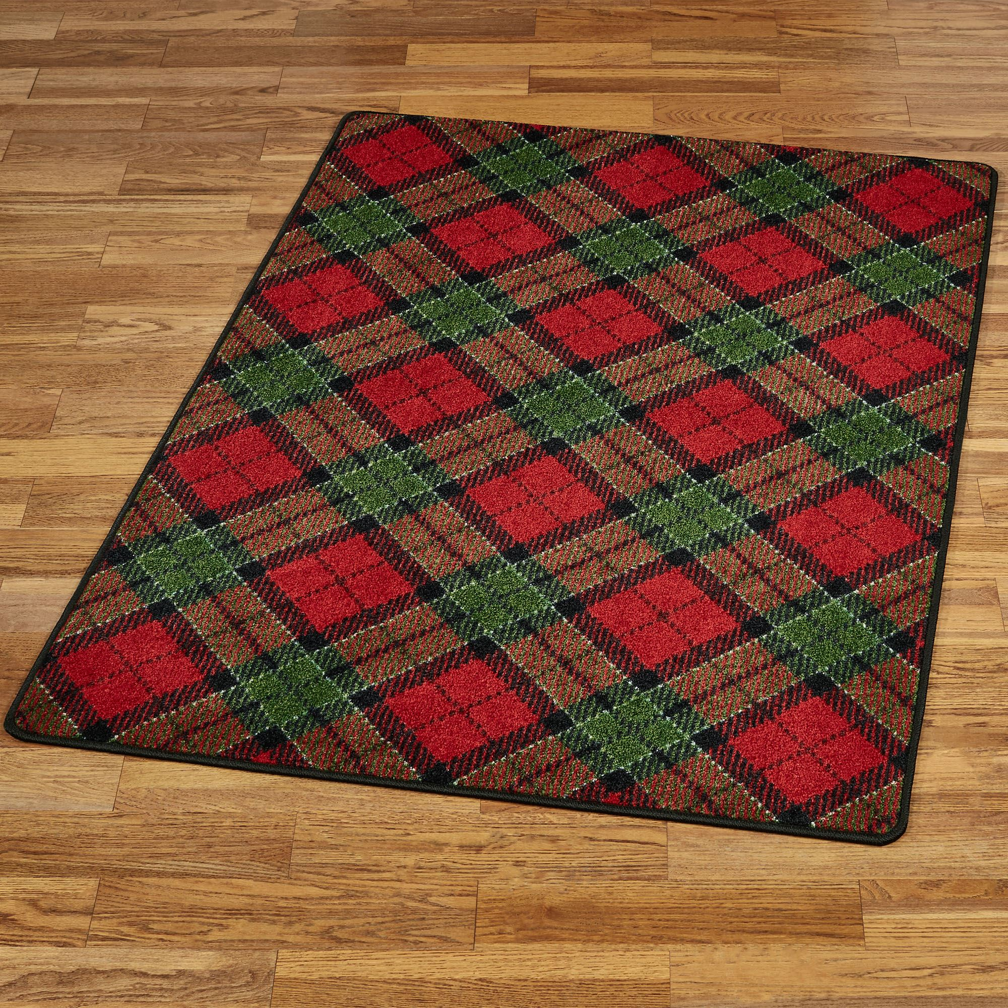 christmas plaid rectangle rug - Christmas Plaid