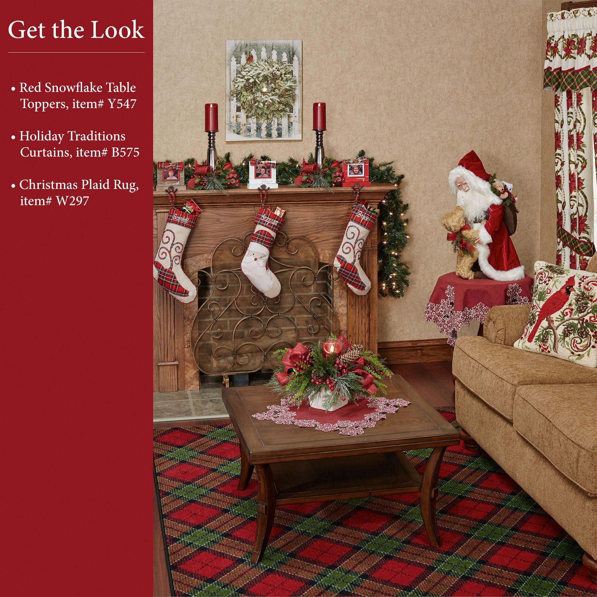 Milliken Carpets Christmas Plaid Area Rugs