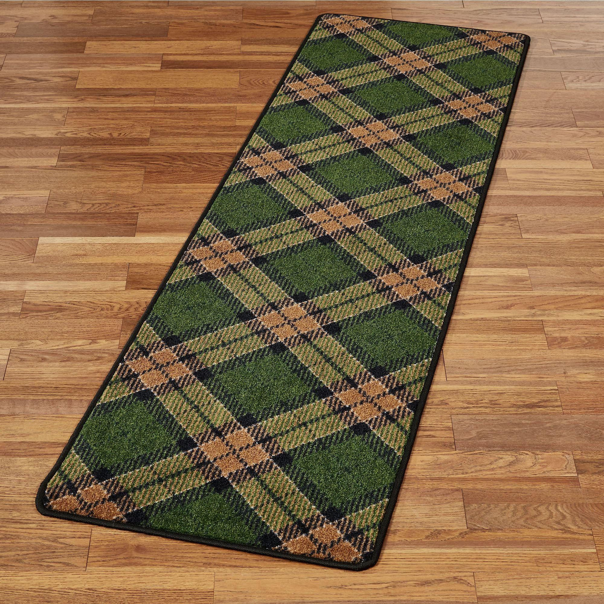 Milliken Carpets Christmas Plaid Rug Runner