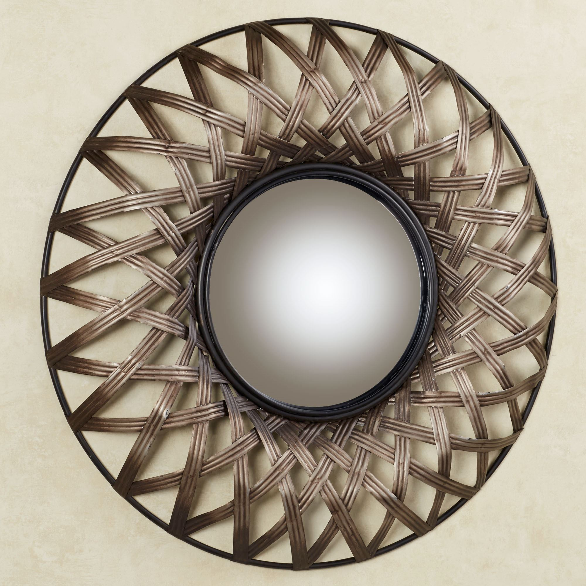 Stark Round Mirrored Metal Wall Art