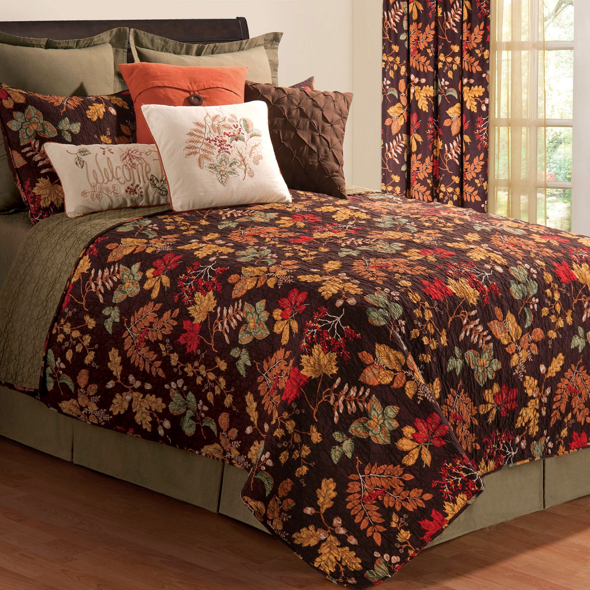 Amison Autumn Leaf Quilt Bedding