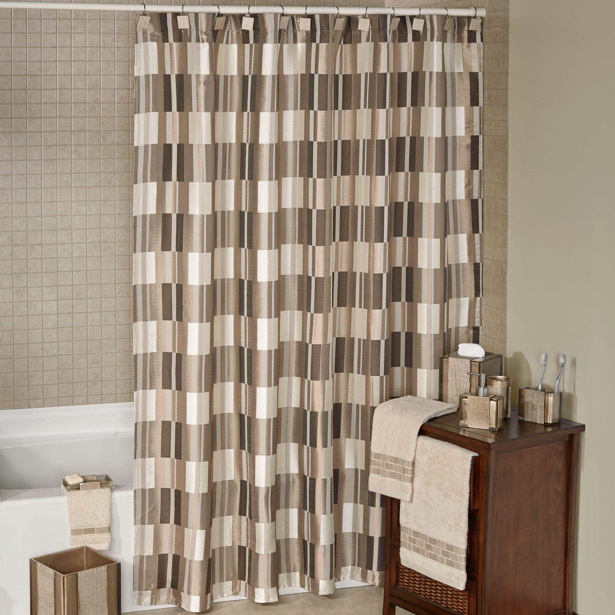 Birmingham Geometric Block Design Shower Curtain with Liner