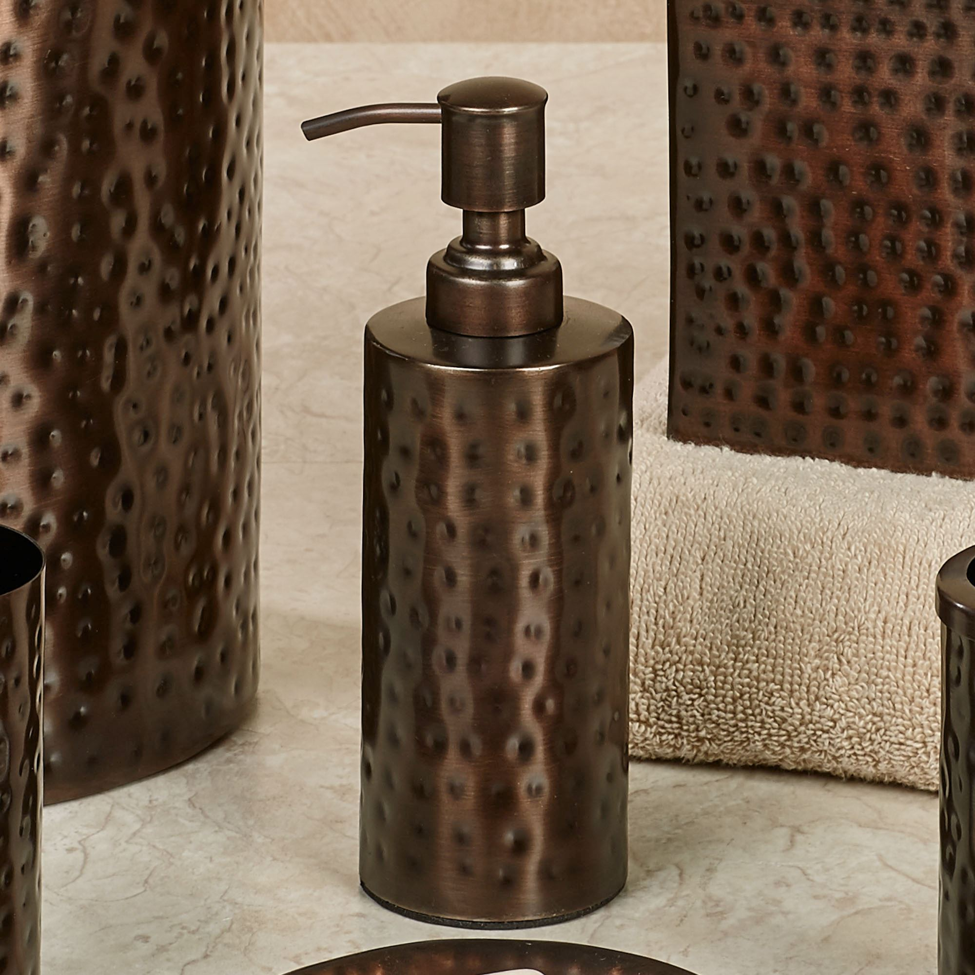 Pressed Metal Lotion Soap Dispenser Oil Rubbed Bronze
