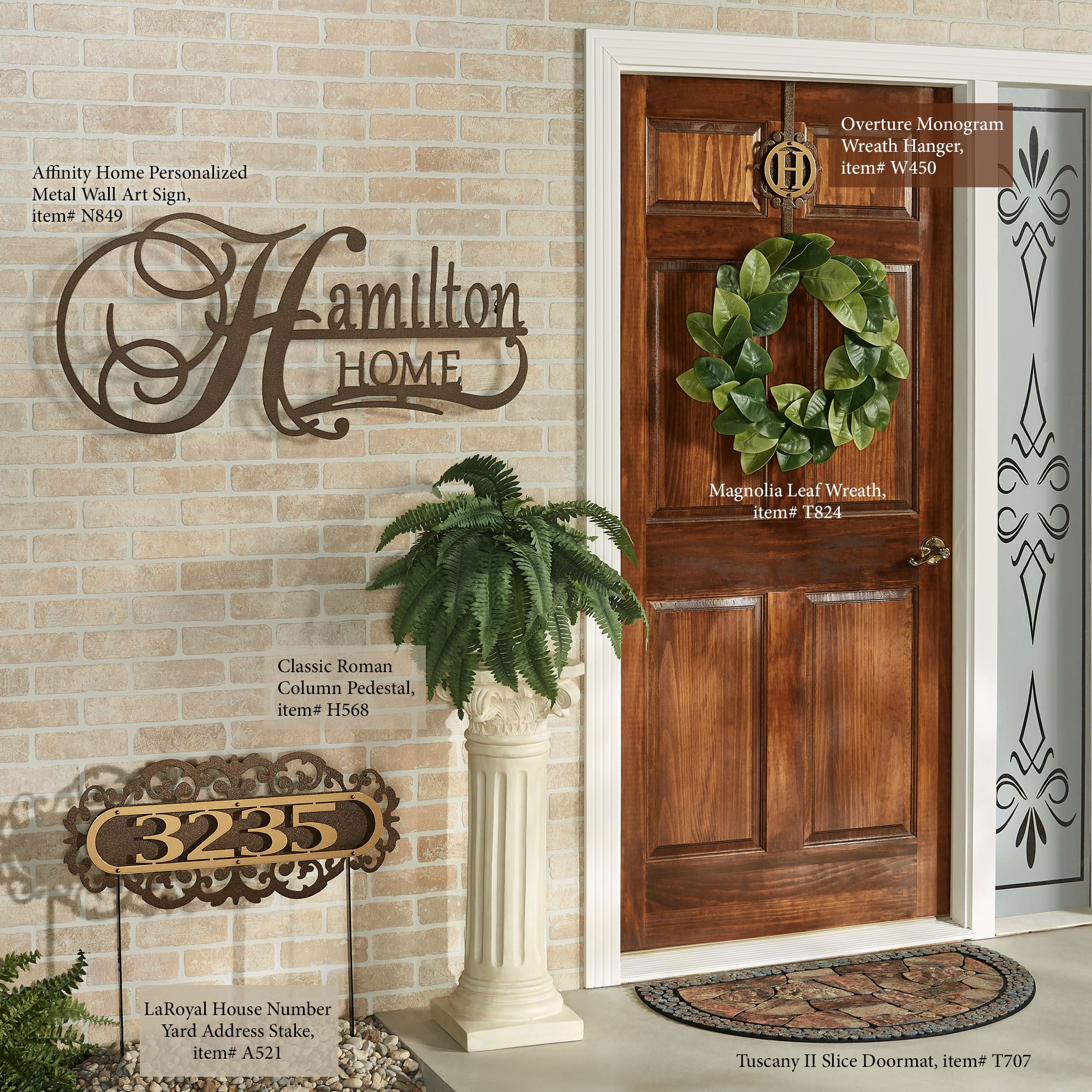 Overture Gold Bronze Over The Door Monogram Wreath Hanger