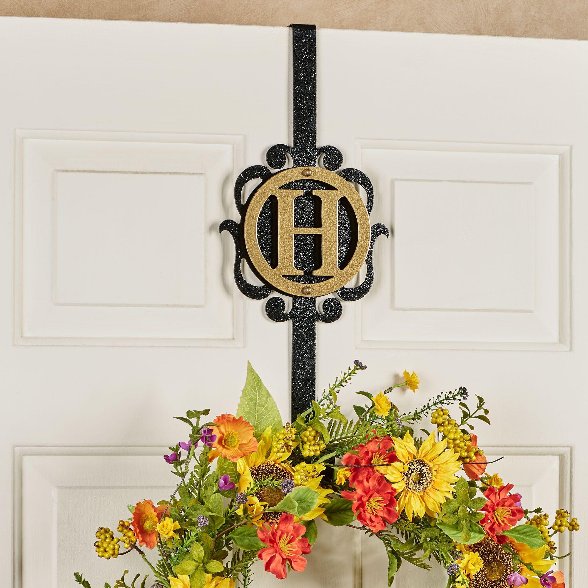 Overture Gold Black Over The Door Monogram Wreath Hanger