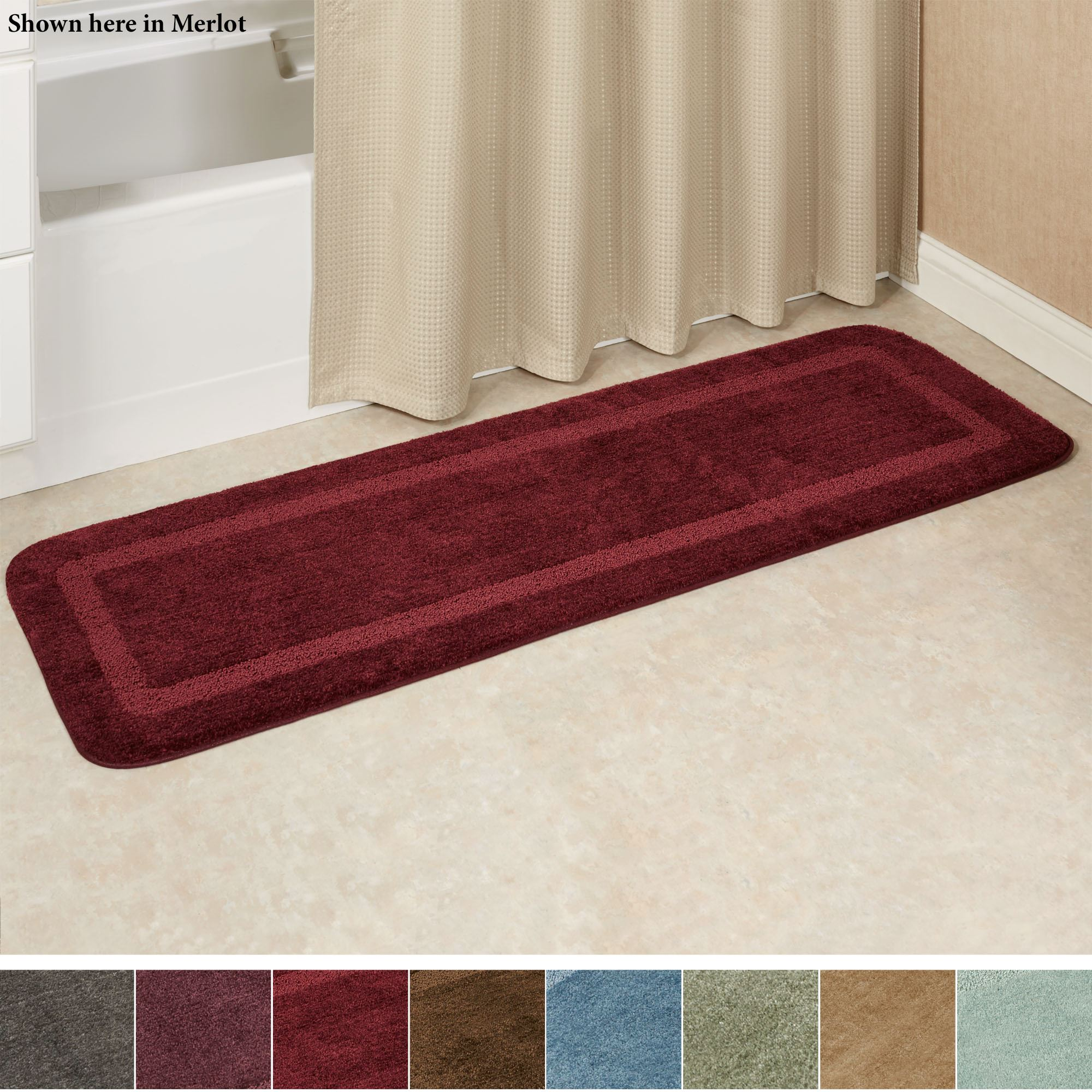 Facet Bath Rug Runner 18 x 5