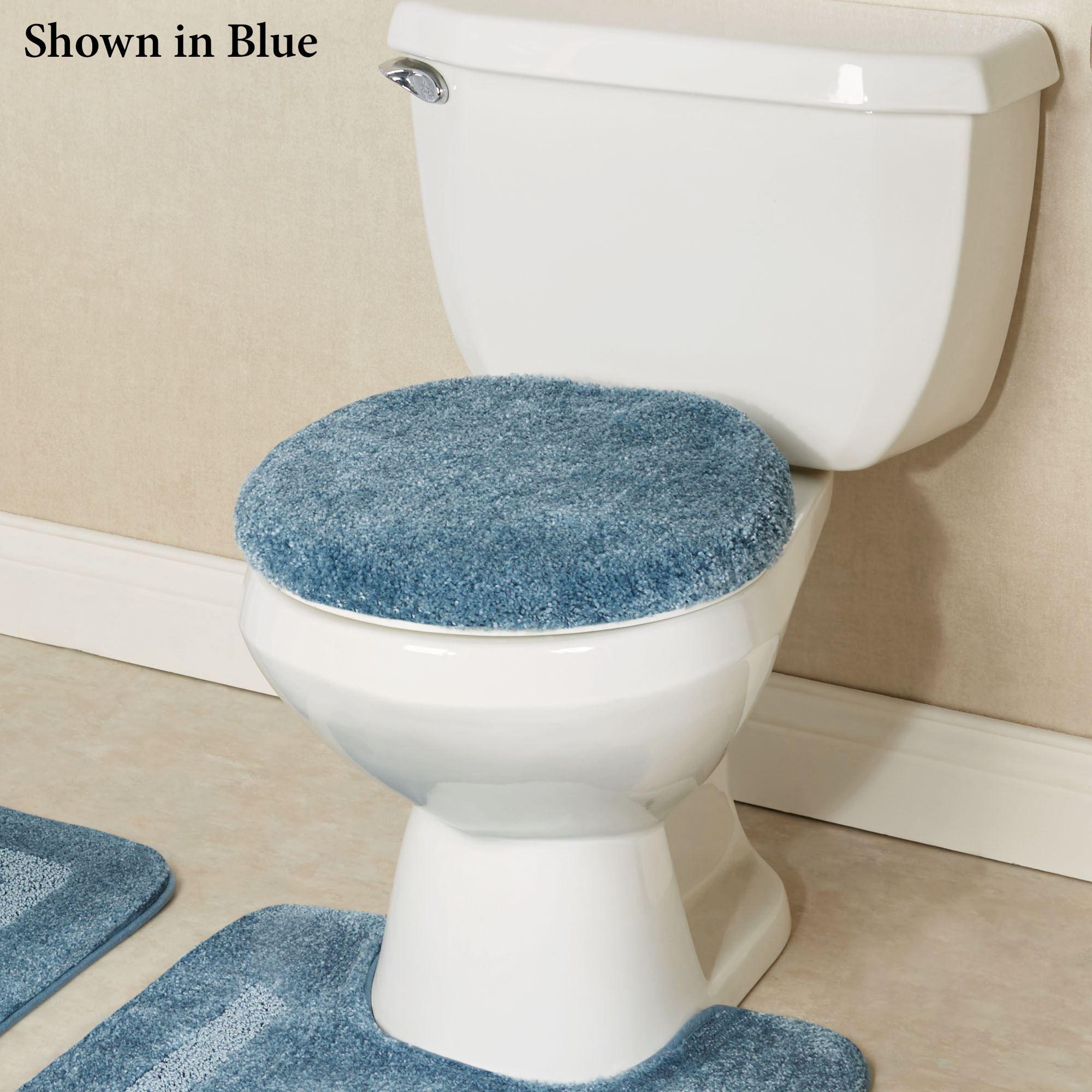 Facet Plush Nylon Toilet Lid Cover or Contour Mat