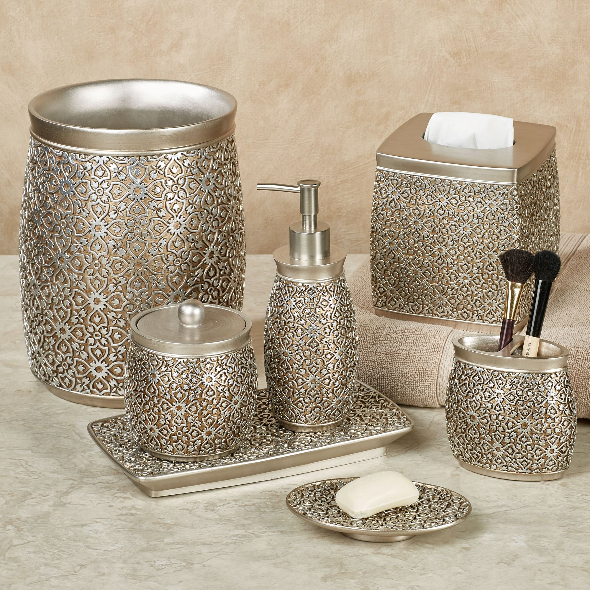 Jag Antique Gold and Silver Bath Accessories