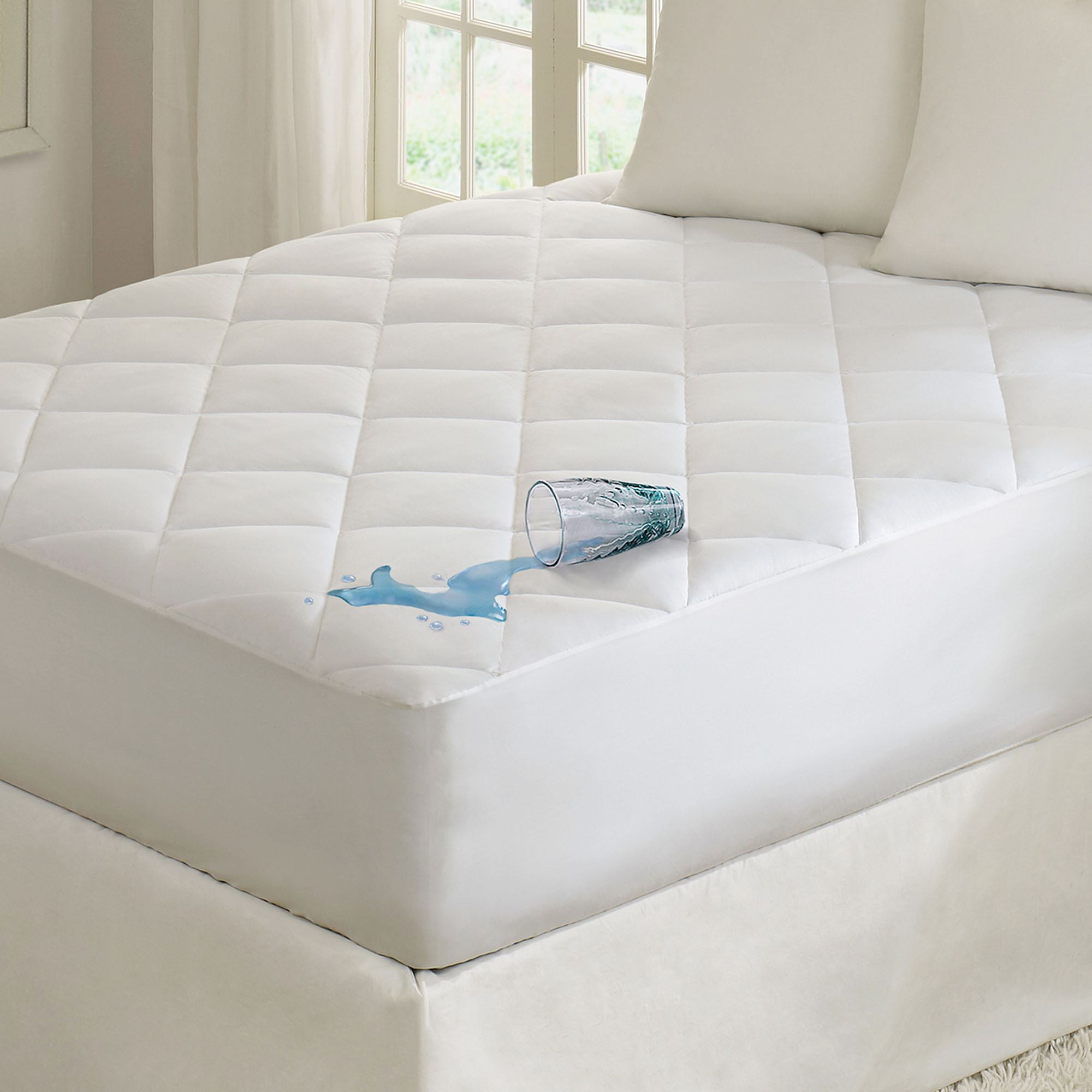 Quiet Nights Quilted Waterproof Mattress Pad from Madison Park