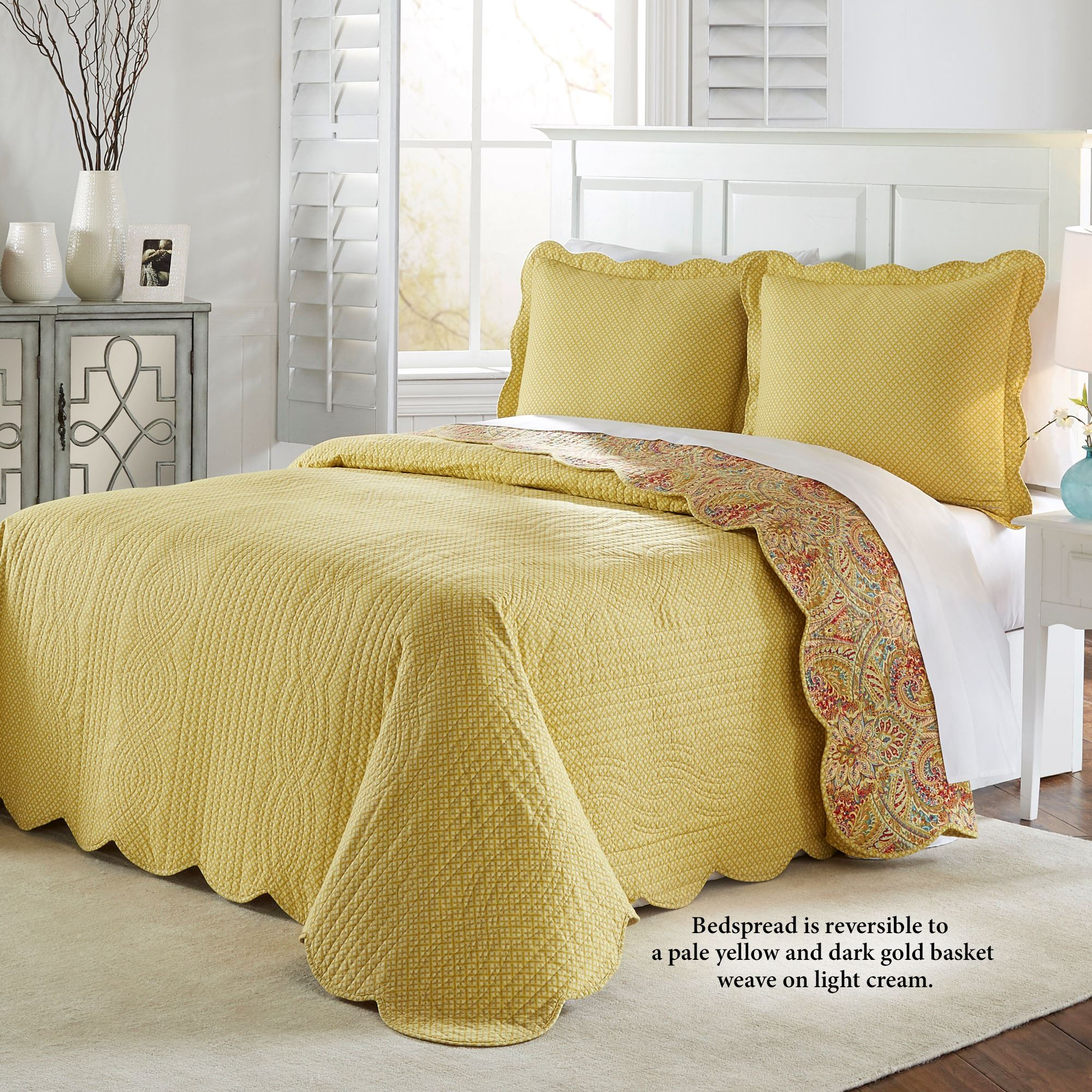 Well-known Swept Away Reversible Quilted Bedspread Set by Waverly ZM38