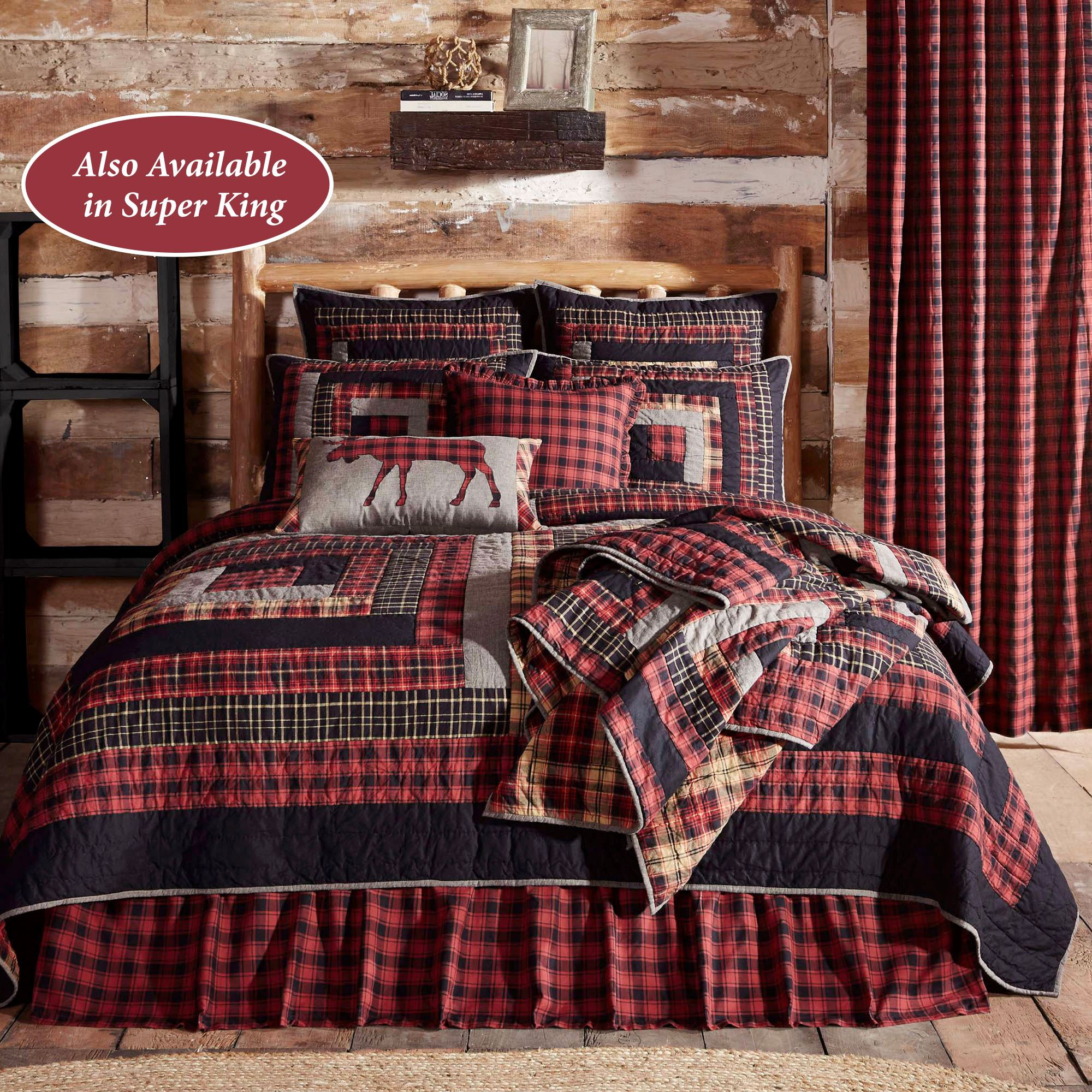 Cumberland Rustic Red Plaid Quilt Bedding by Oak & Asher : plaid comforters and quilts - Adamdwight.com