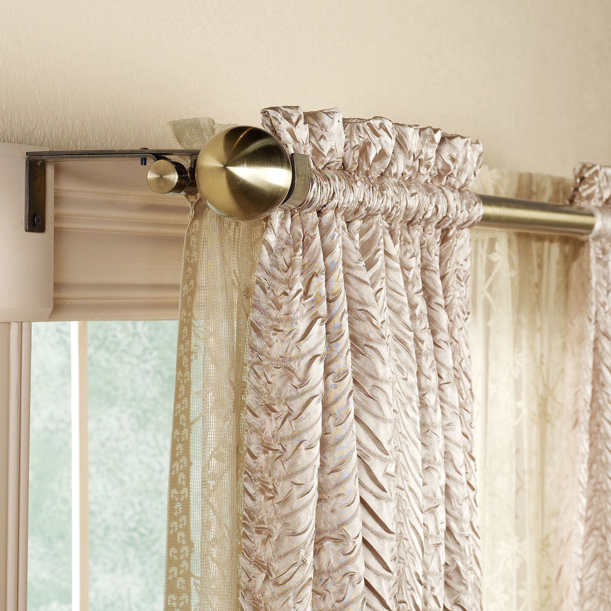 Decorative Double Curtain Rod 28quot; to 86quot;