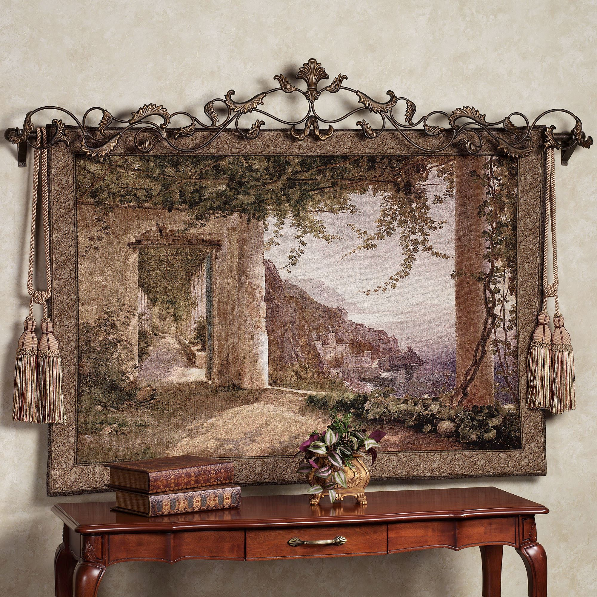 amalfi dai cappuccini wall tapestry. Black Bedroom Furniture Sets. Home Design Ideas