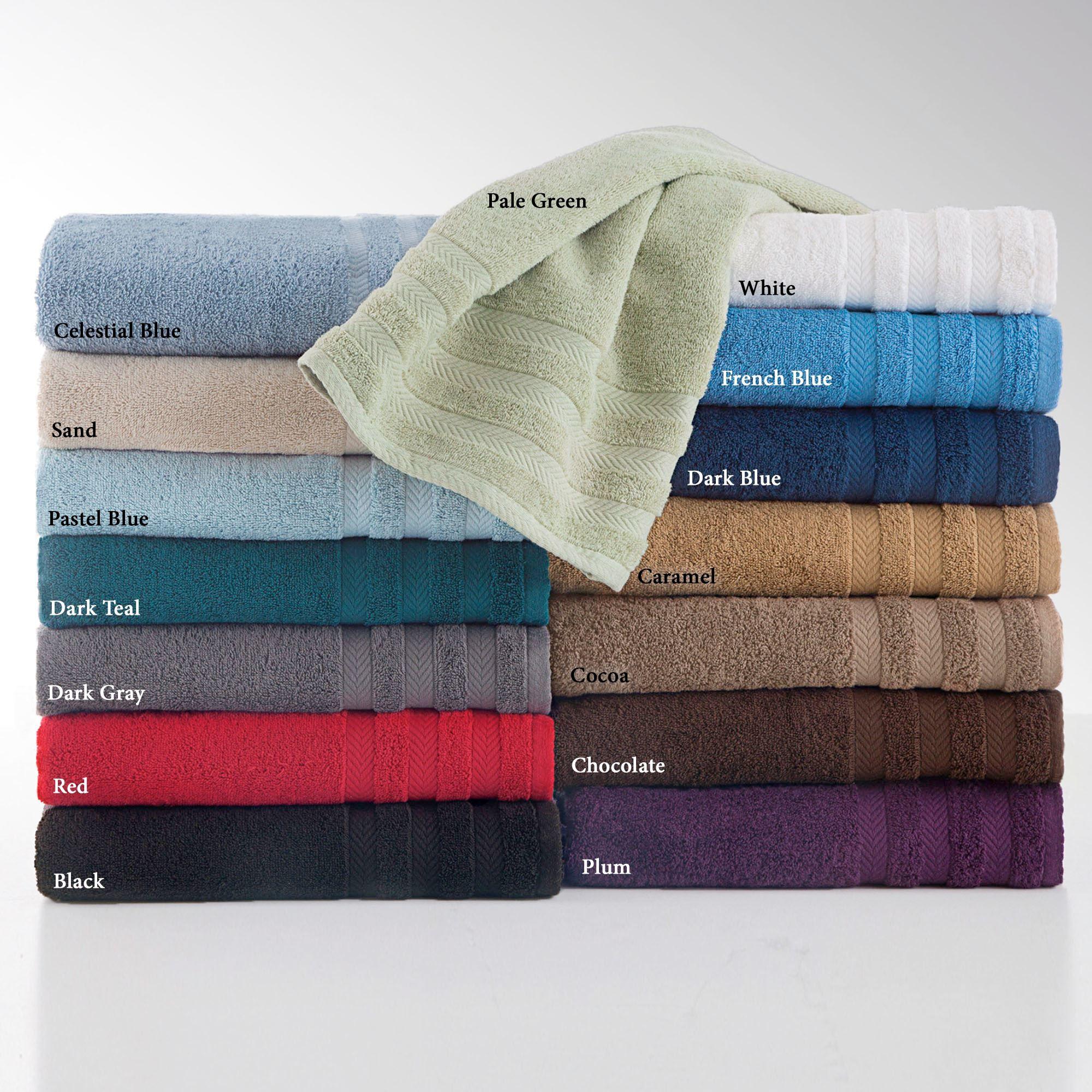 6 Piece Blended Egyptian Cotton Bath Towel Set