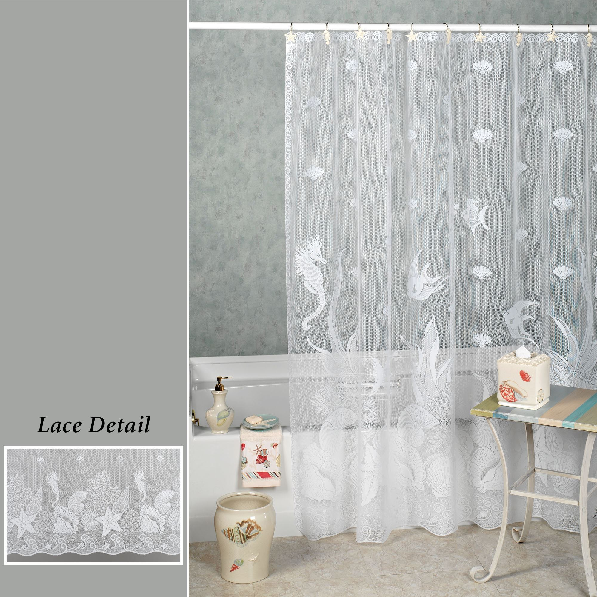 Seascape Shower Curtain 72 X Touch To Zoom