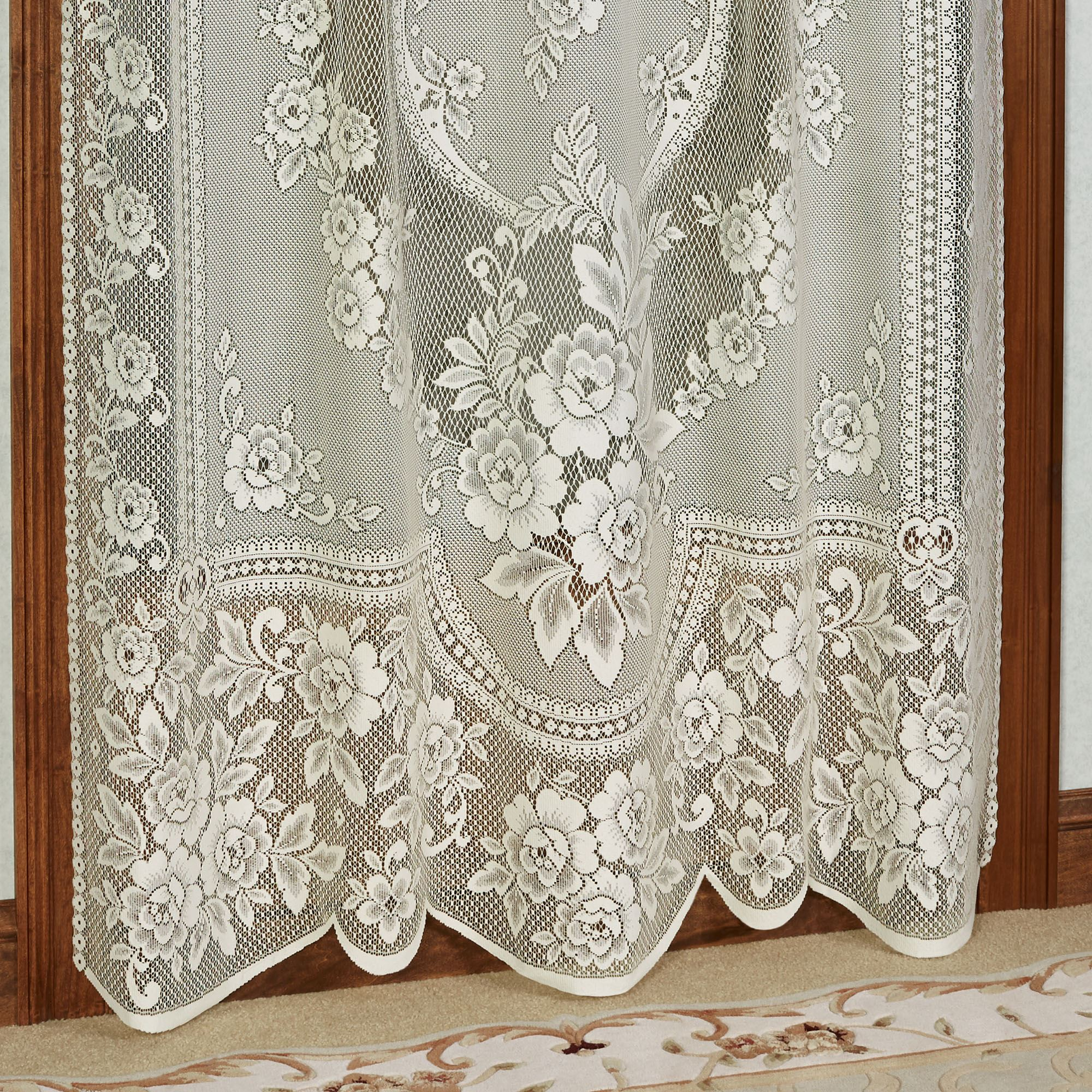 Victorian Rose Floral Lace Window Treatment