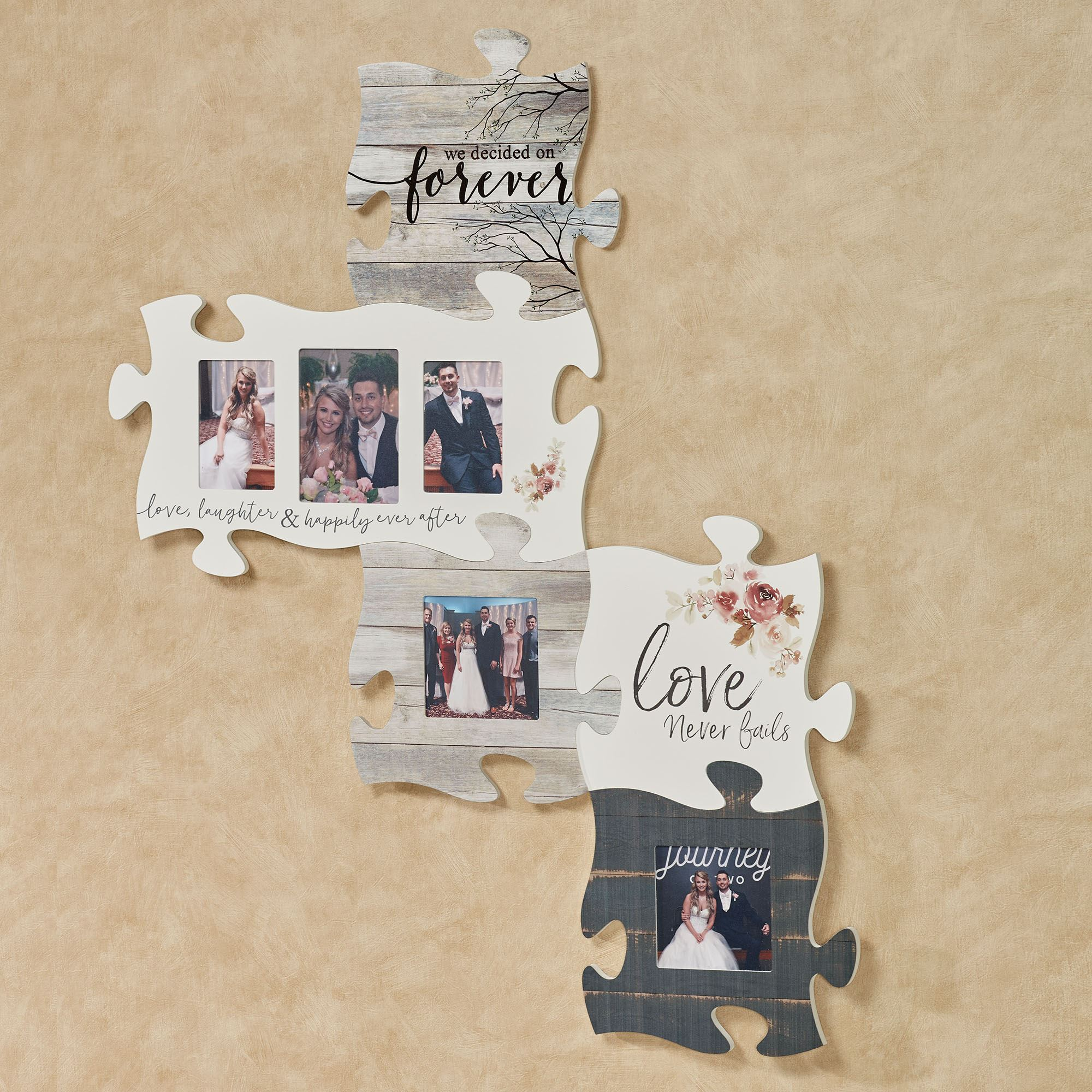 Happily Ever After Wedding Anniversary Photo Frame Puzzle