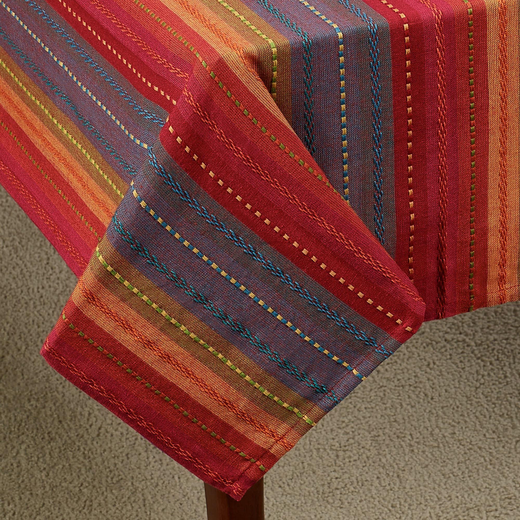 Phoenix Multi Bright Striped Southwest Table Linens