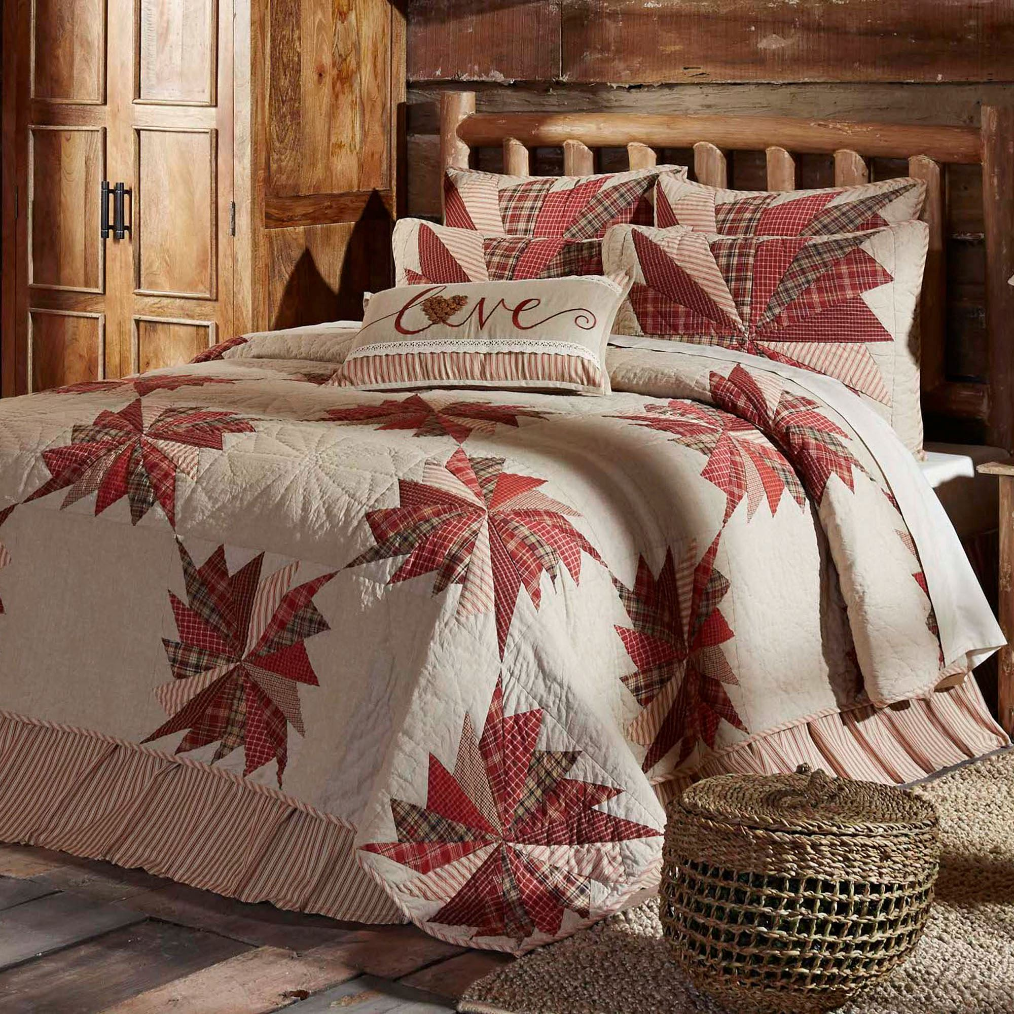 set plaid montana morning bedding rustic duvet covers pin chocolate comforter
